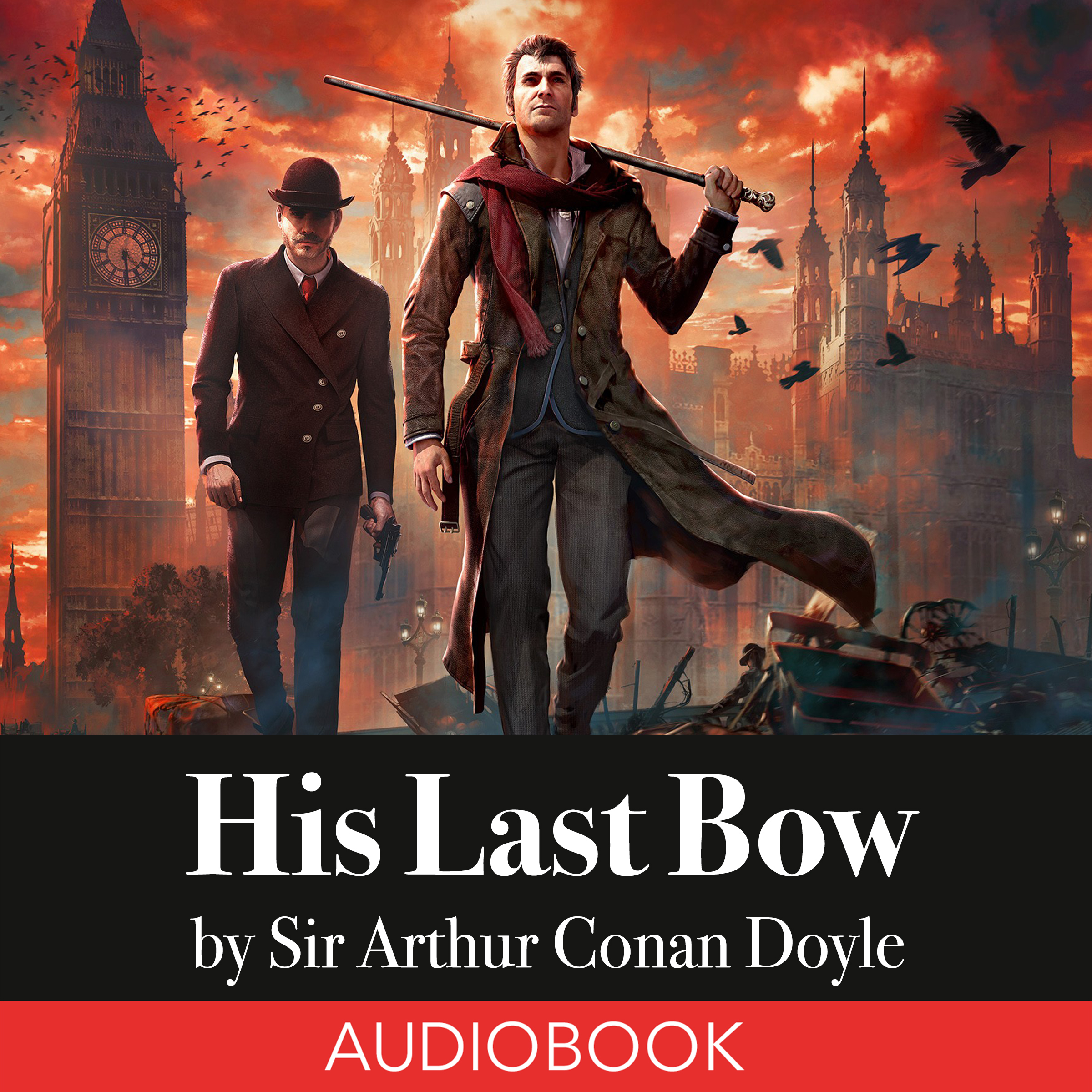 Printable Sherlock Holmes: His Last Bow Audiobook Cover Art