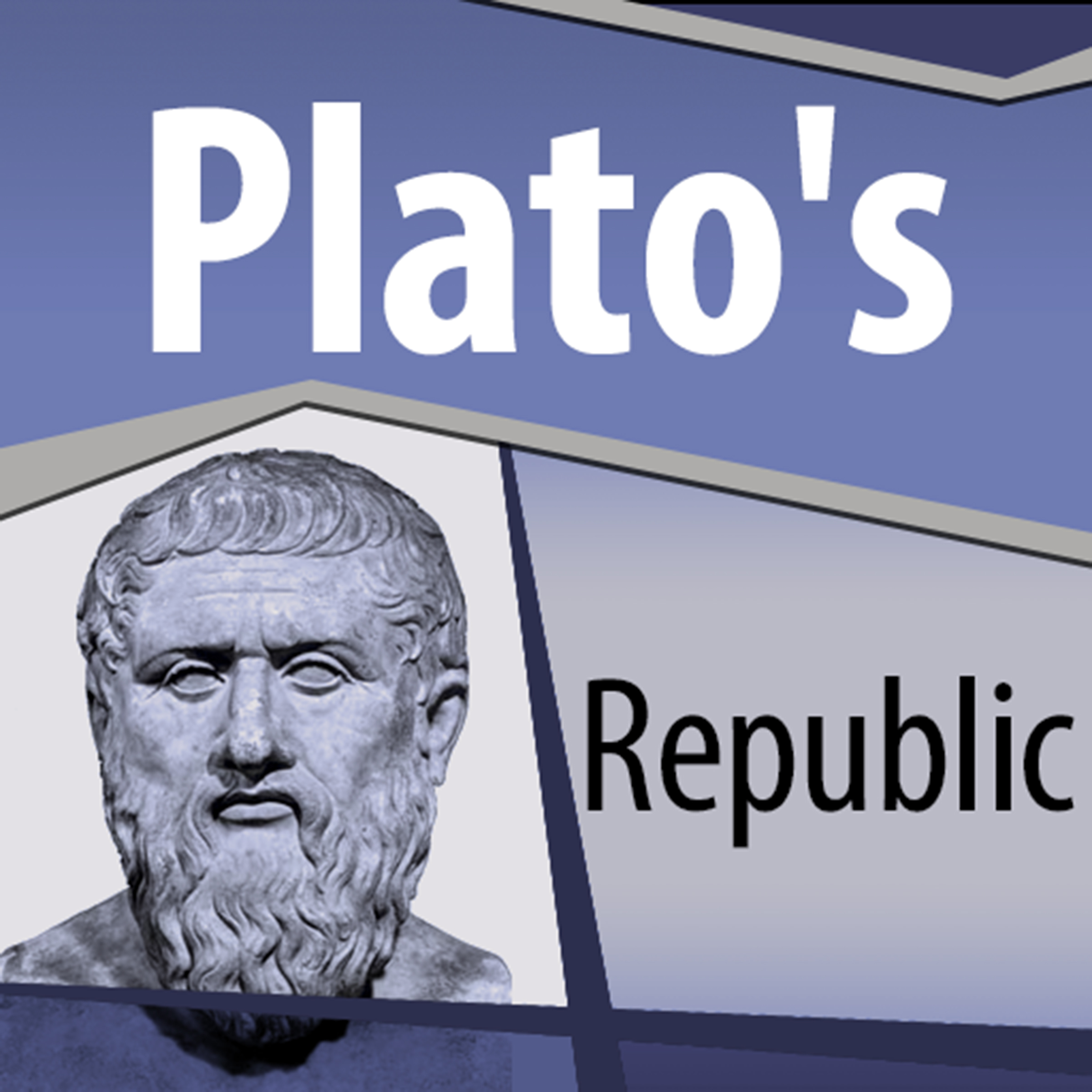 Printable Plato's Republic Audiobook Cover Art