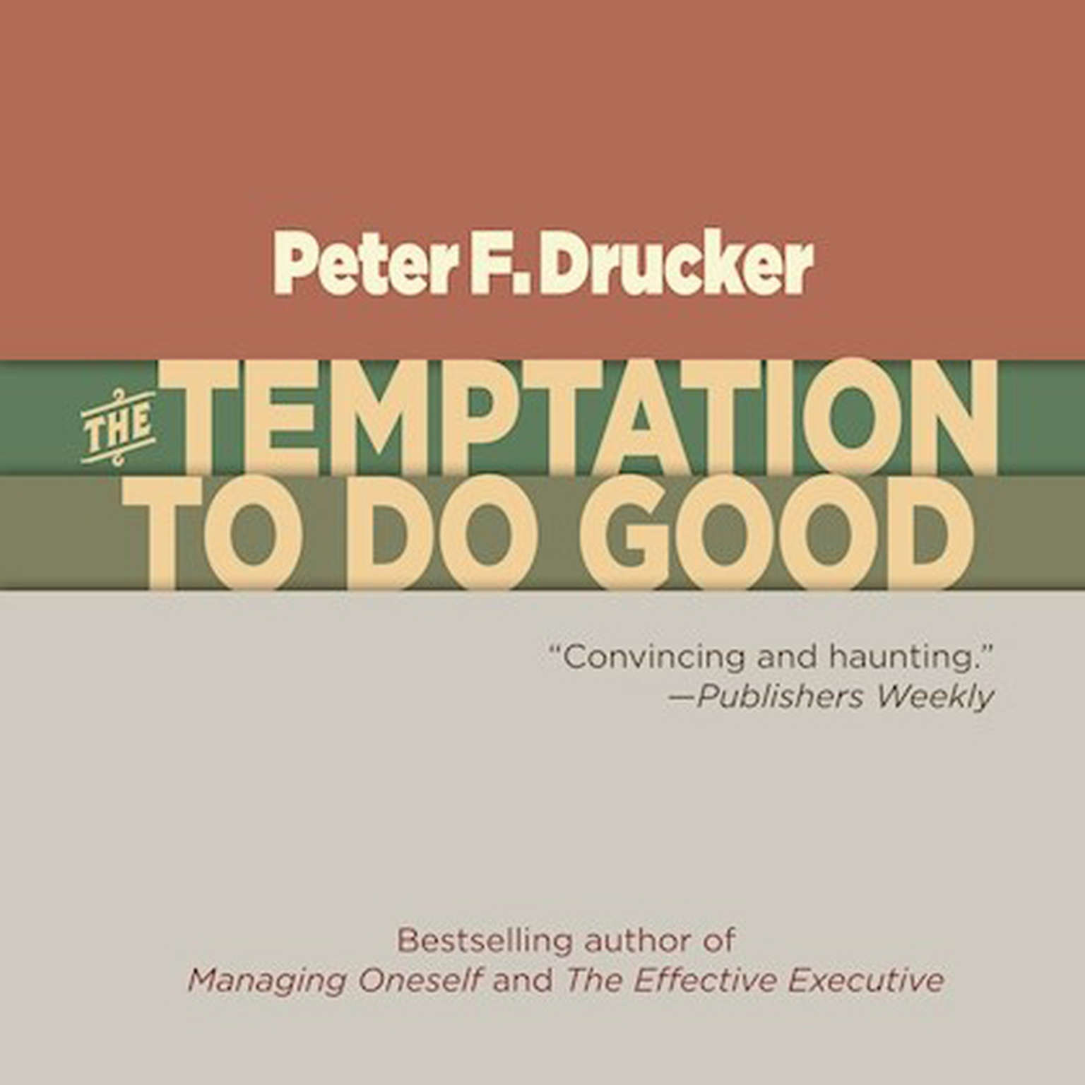 Printable The Temptation to Do Good Audiobook Cover Art