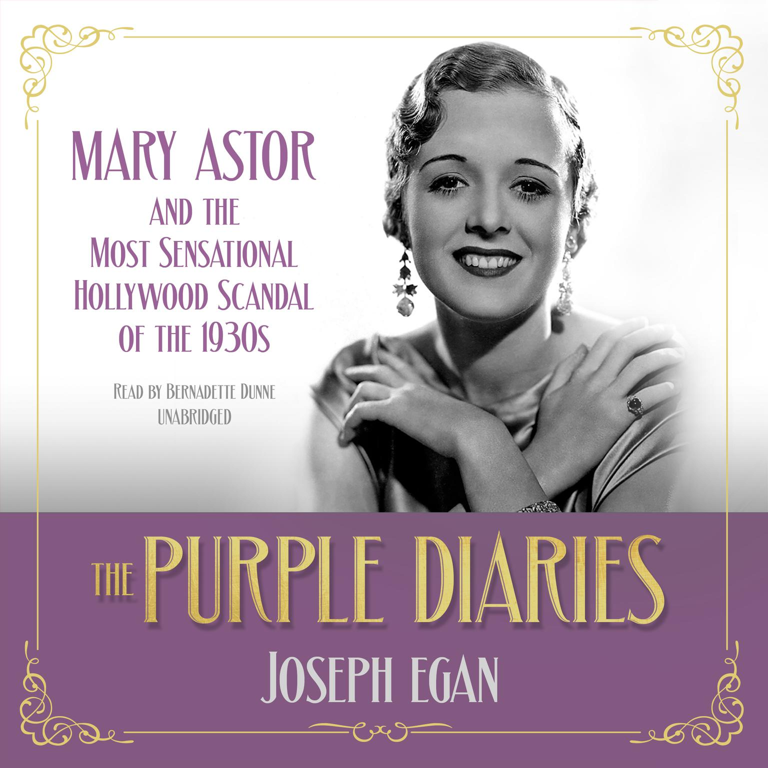 Printable The Purple Diaries: Mary Astor and the Most Sensational Hollywood Scandal of the 1930s  Audiobook Cover Art