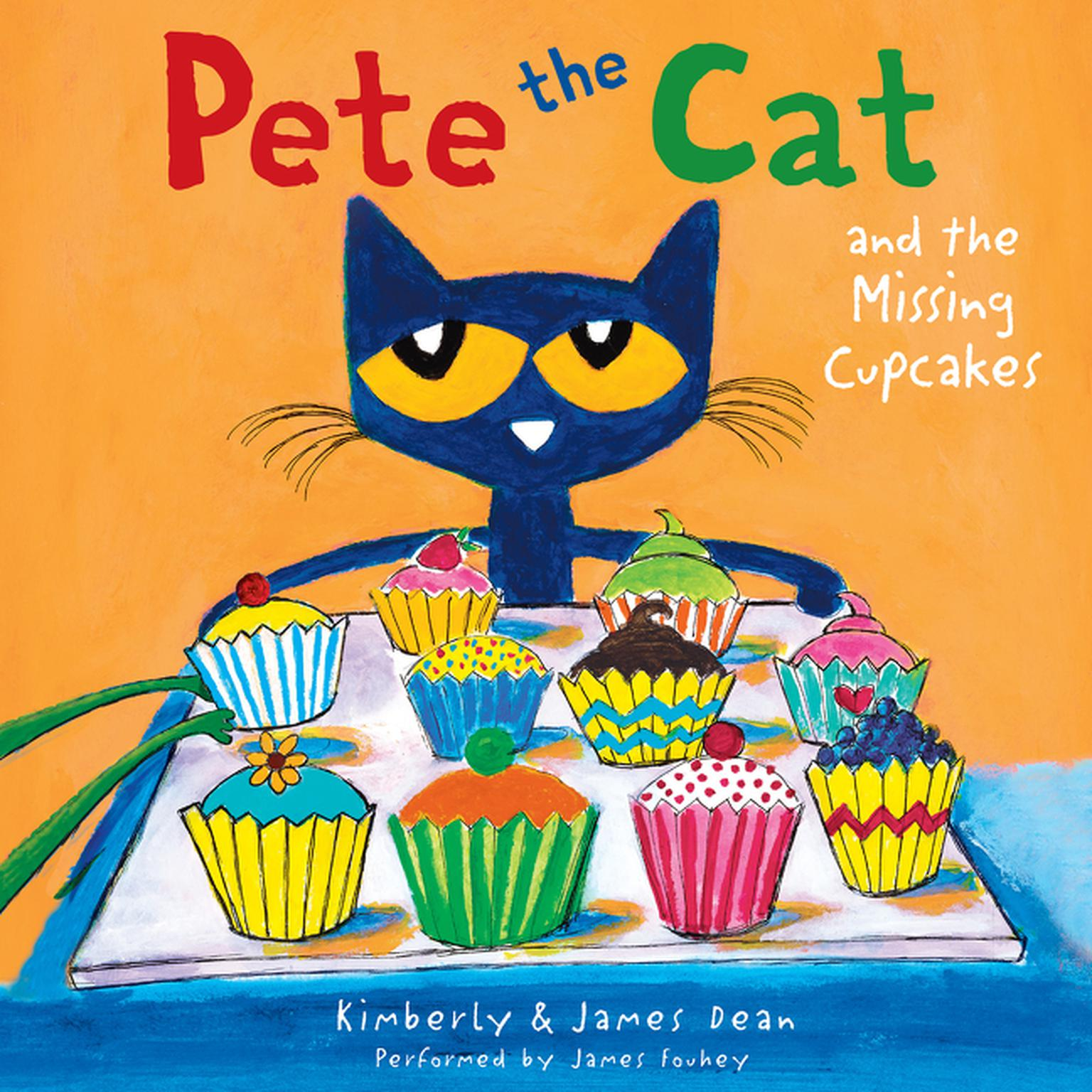 Printable Pete the Cat and the Missing Cupcakes Audiobook Cover Art