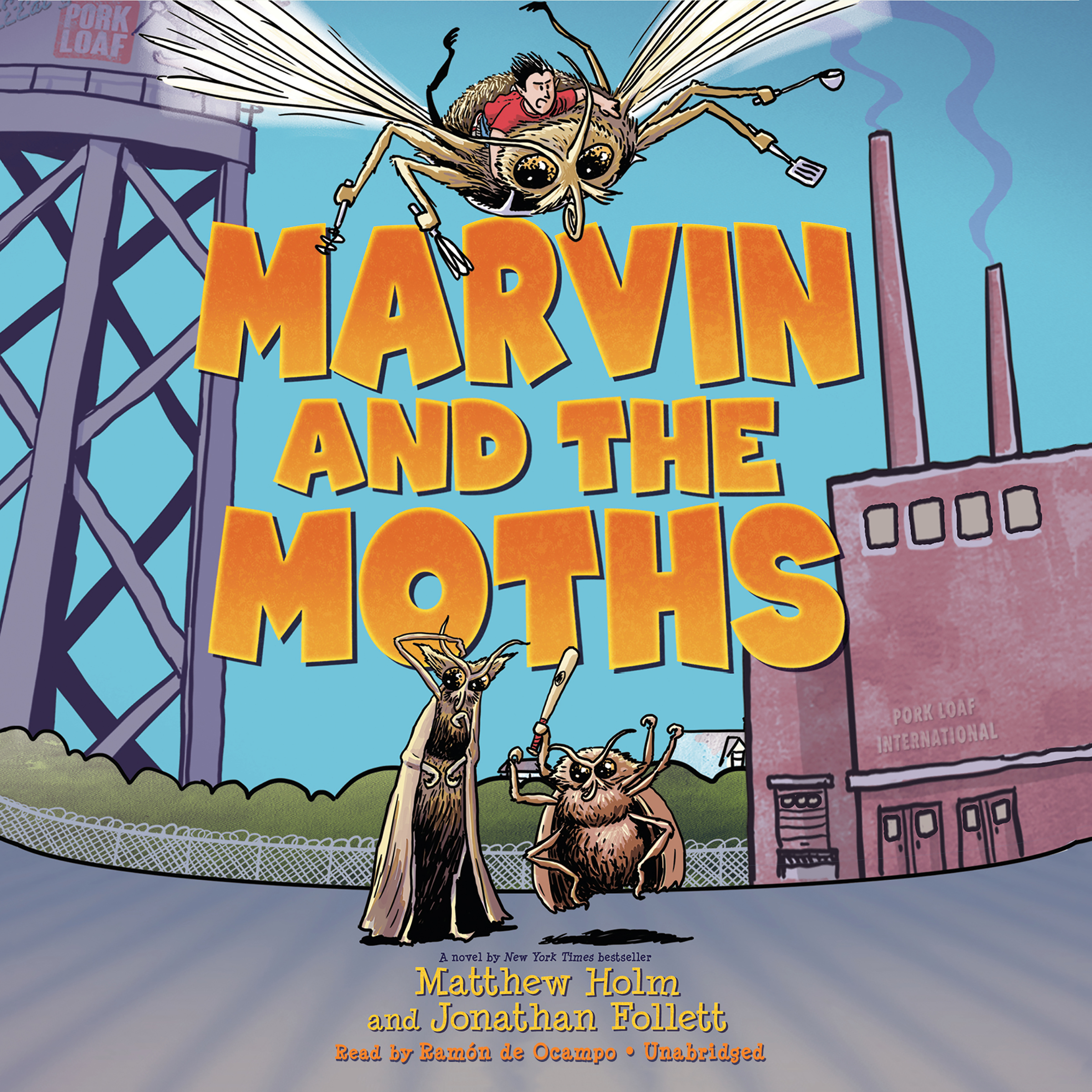 Printable Marvin and the Moths Audiobook Cover Art