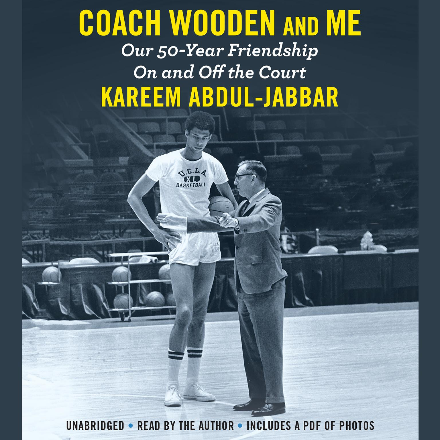 Printable Coach Wooden and Me: Our 50-Year Friendship On and Off the Court Audiobook Cover Art