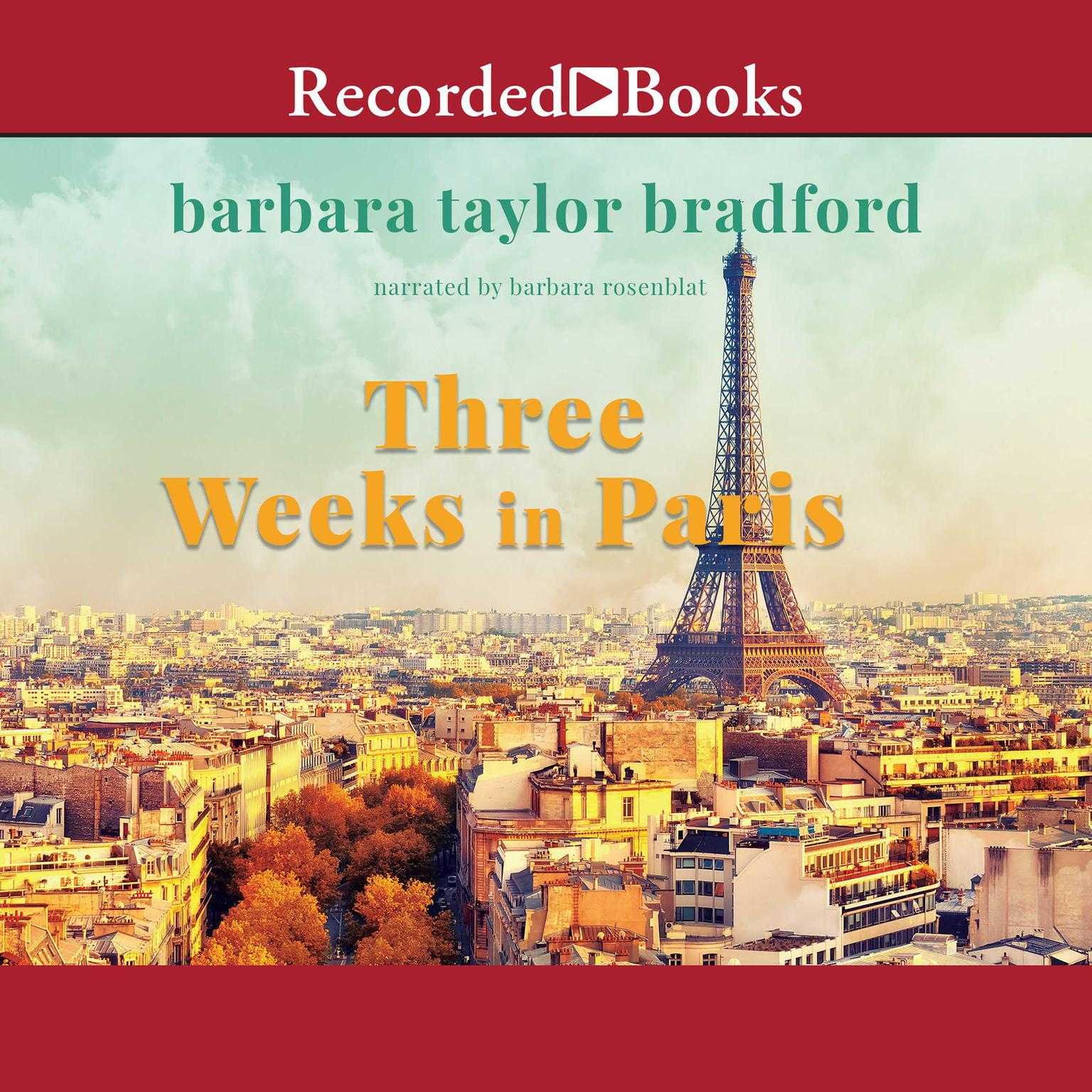 Printable Three Weeks in Paris Audiobook Cover Art