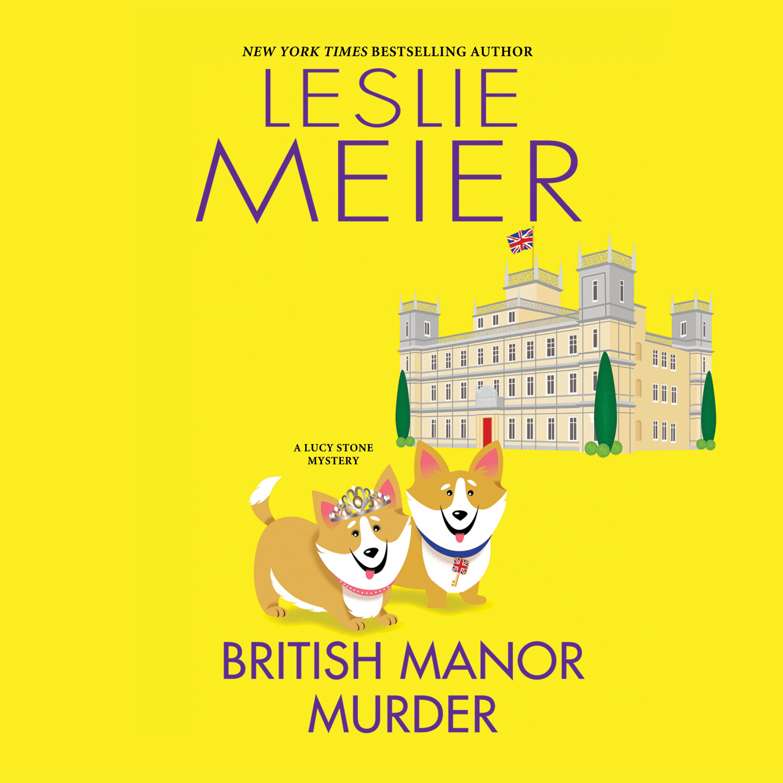 Printable British Manor Murder Audiobook Cover Art