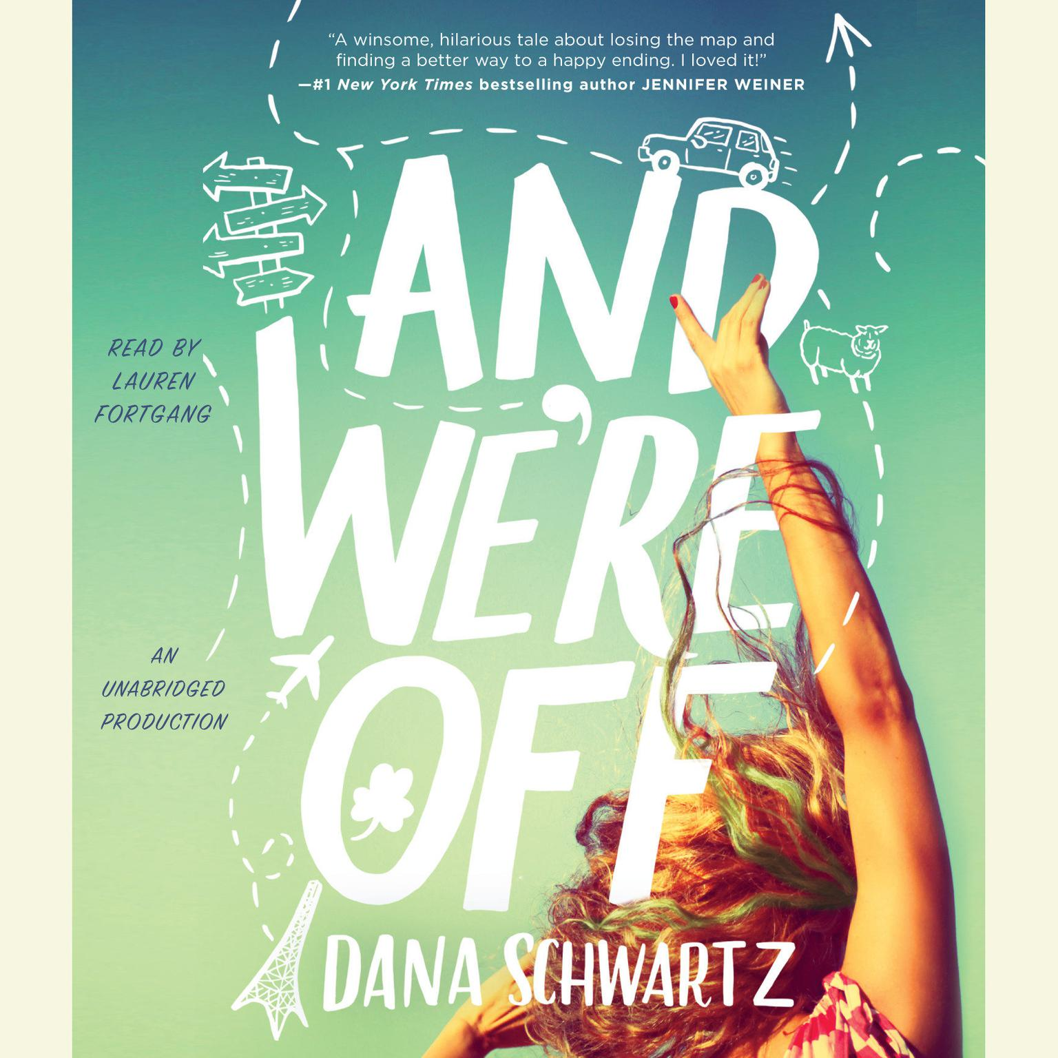 Printable And We're Off Audiobook Cover Art