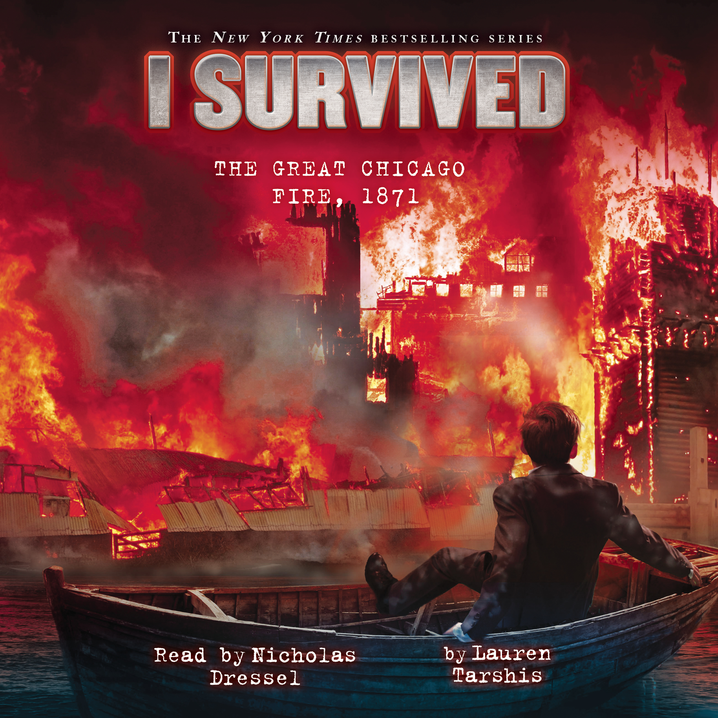 Printable I Survived the Great Chicago Fire, 1871 Audiobook Cover Art