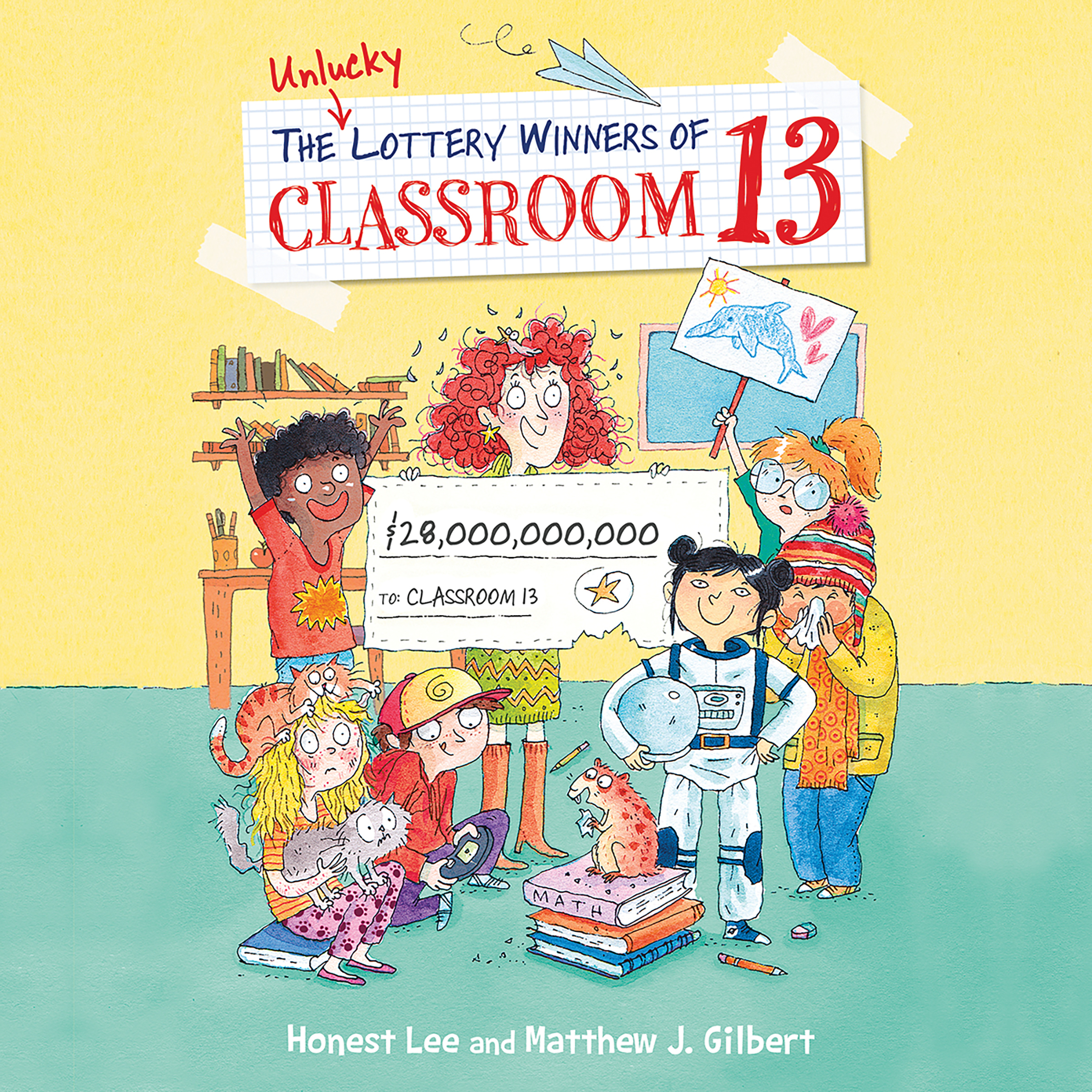 Printable The Unlucky Lottery Winners of Classroom 13 Audiobook Cover Art