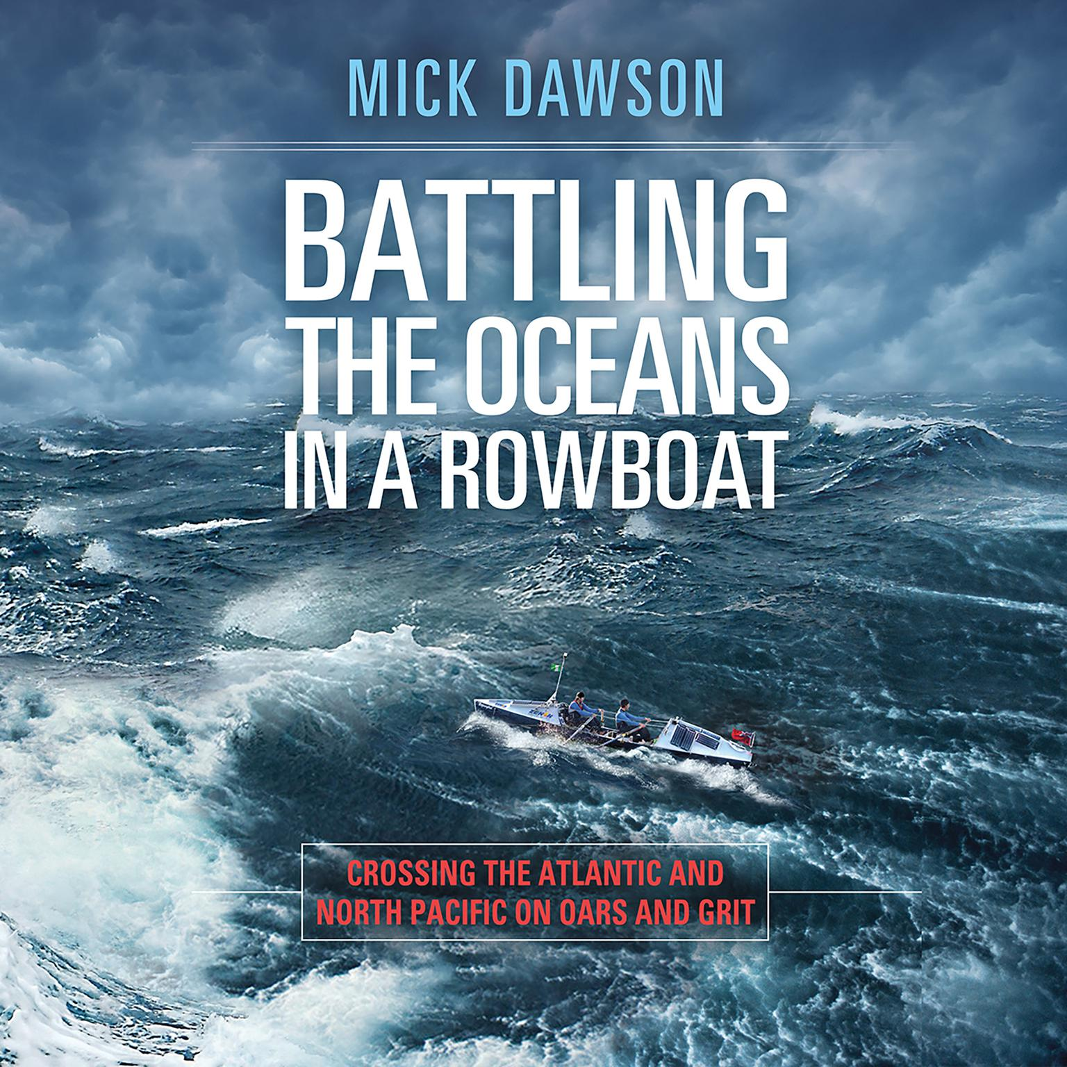 Printable Battling the Oceans in a Rowboat: Crossing the Atlantic and North Pacific on Oars and Grit Audiobook Cover Art