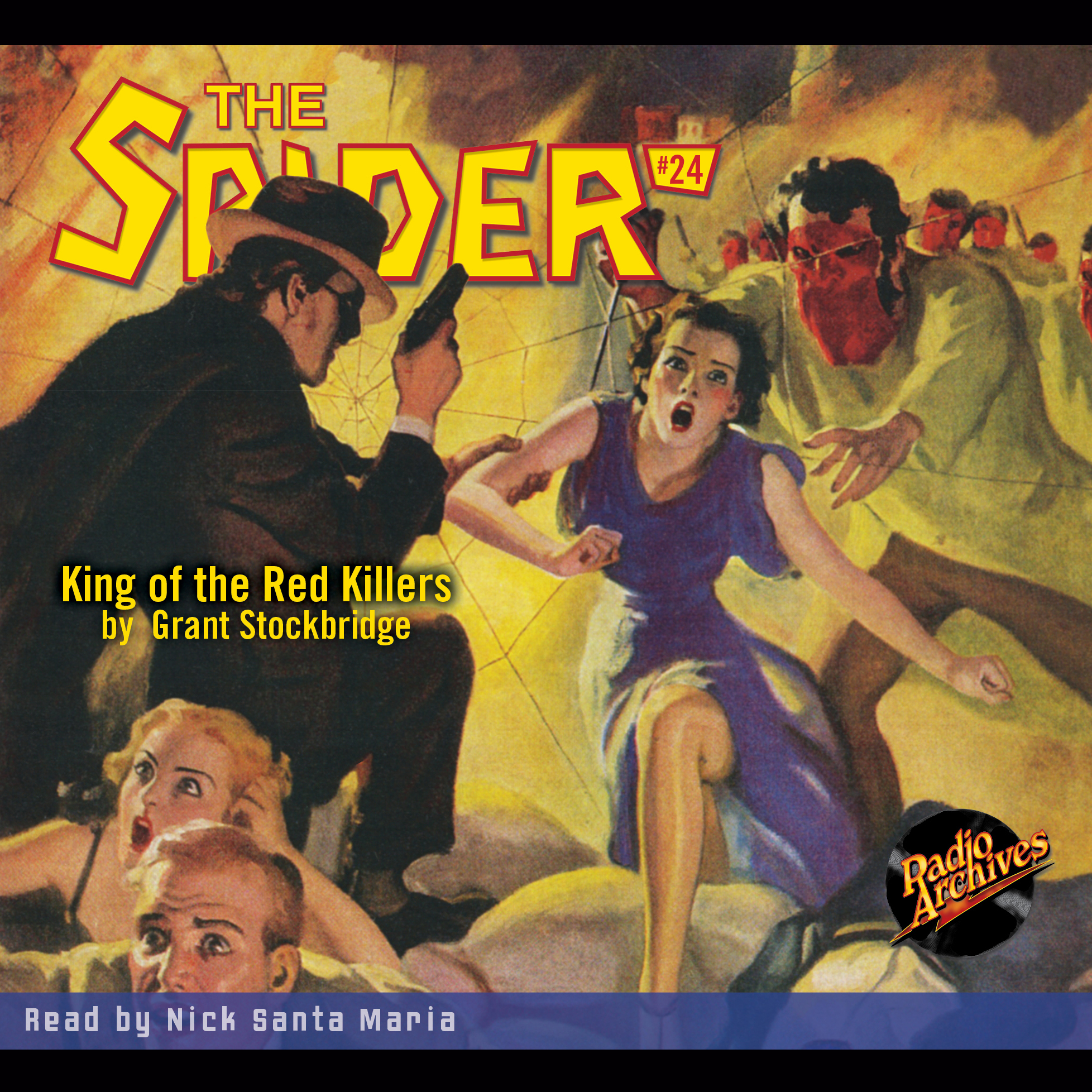 Printable The Spider: King of the Red Killers Audiobook Cover Art
