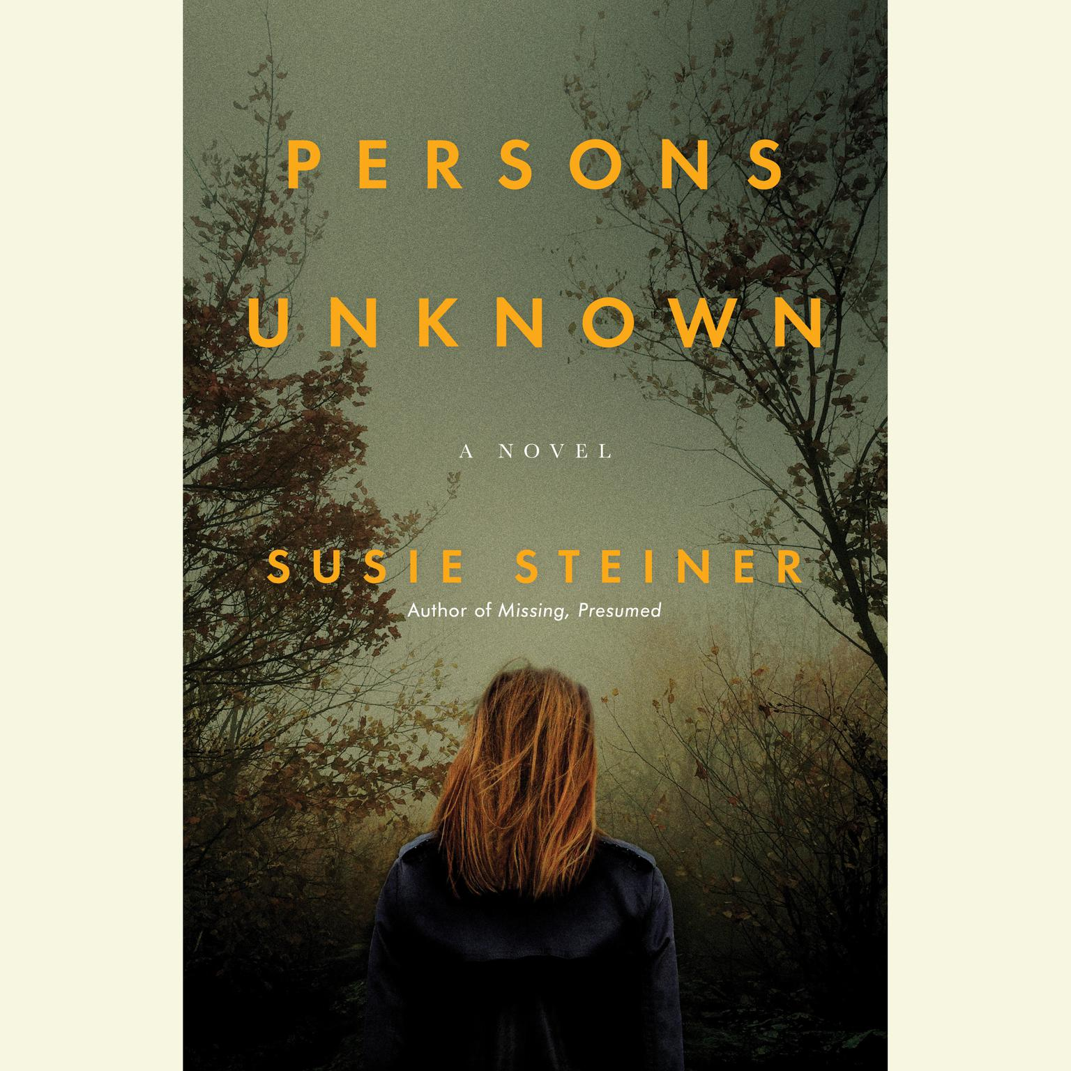 Printable Persons Unknown: A Novel Audiobook Cover Art