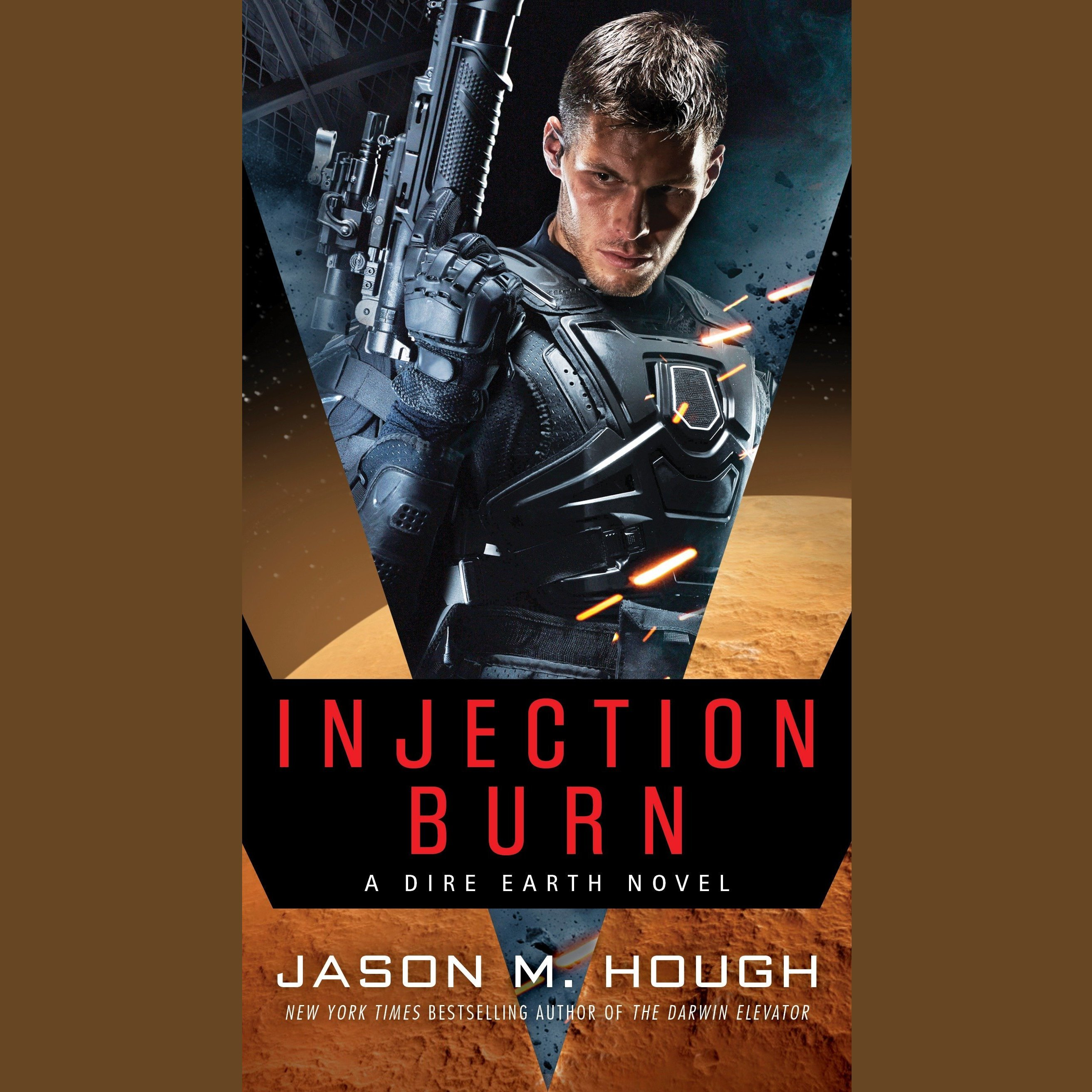 Printable Injection Burn: Book One of The Dire Earth Duology Audiobook Cover Art