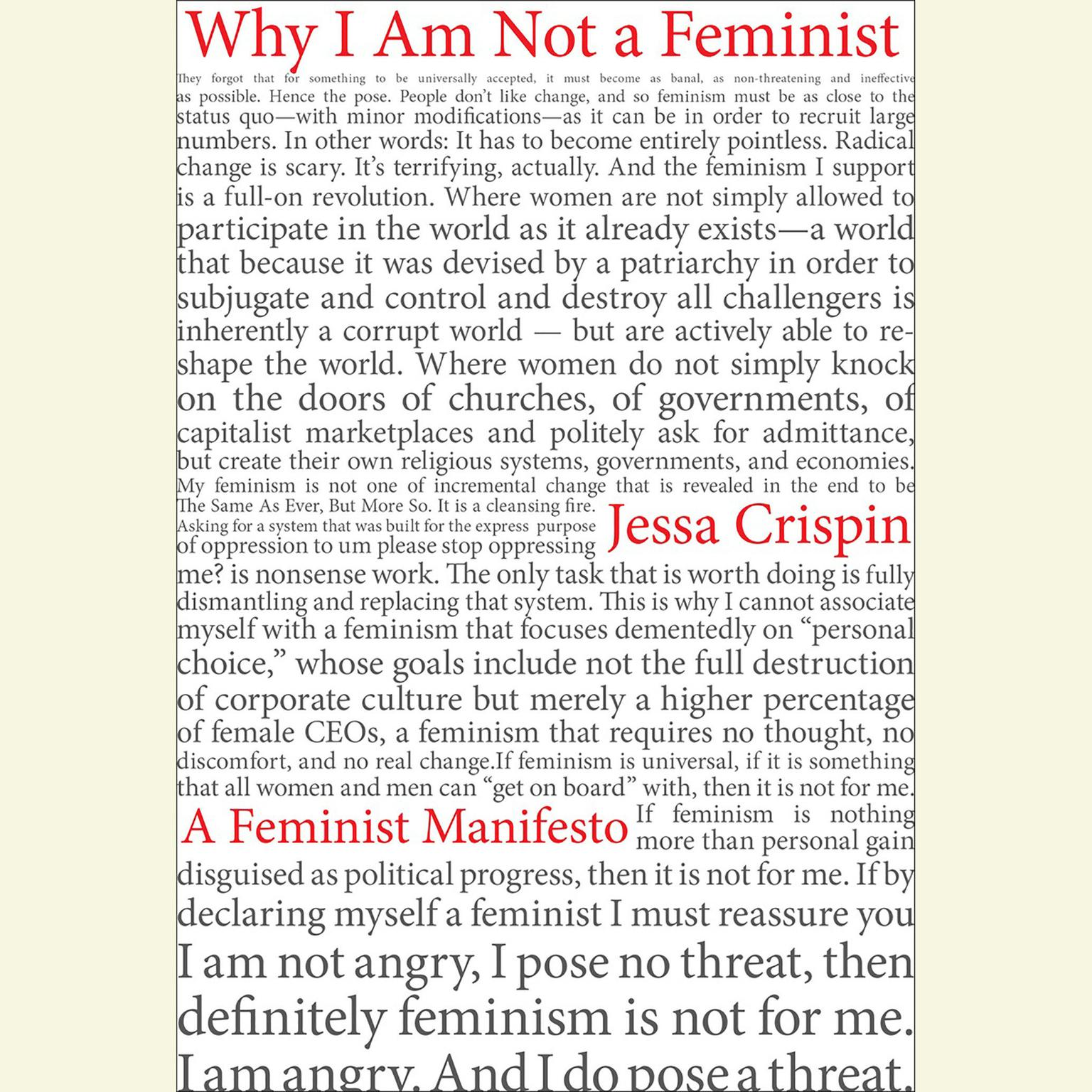 Printable Why I Am Not A Feminist: A Feminist Manifesto Audiobook Cover Art