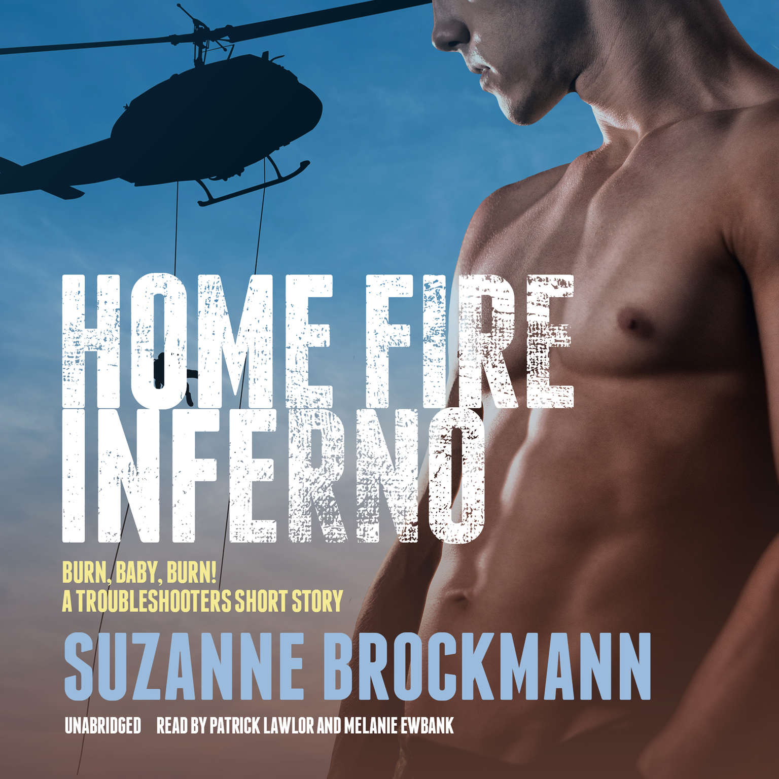 Printable Home Fire Inferno: Burn, Baby, Burn!; A Troubleshooters Short Story Audiobook Cover Art