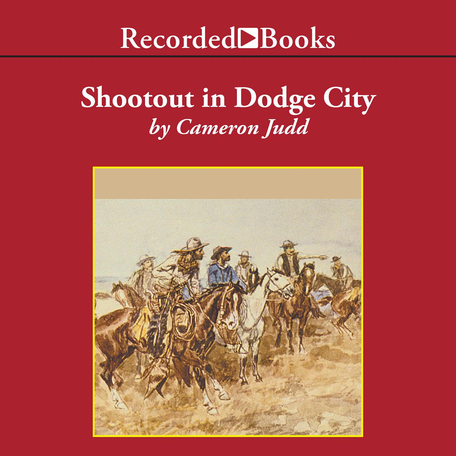Printable Shootout in Dodge City Audiobook Cover Art
