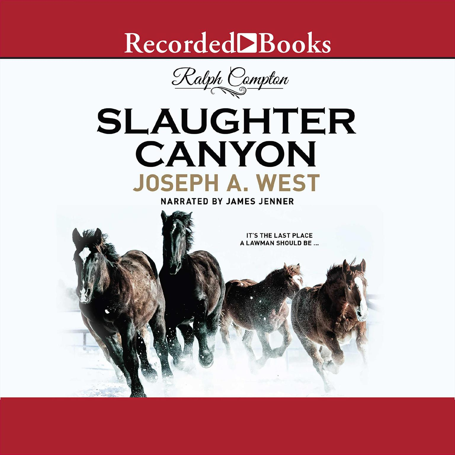 Printable Ralph Compton Slaughter Canyon Audiobook Cover Art