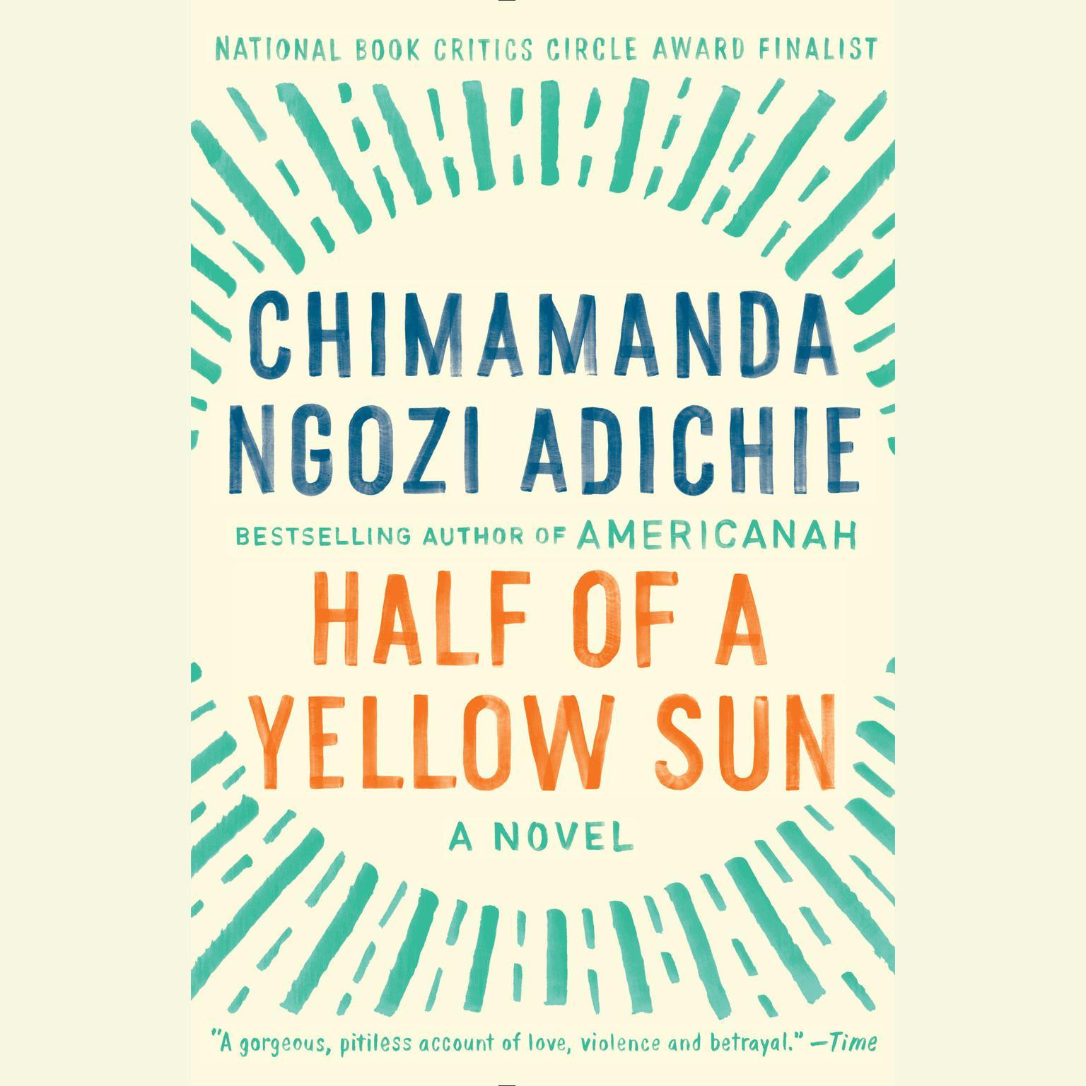 Printable Half of a Yellow Sun Audiobook Cover Art