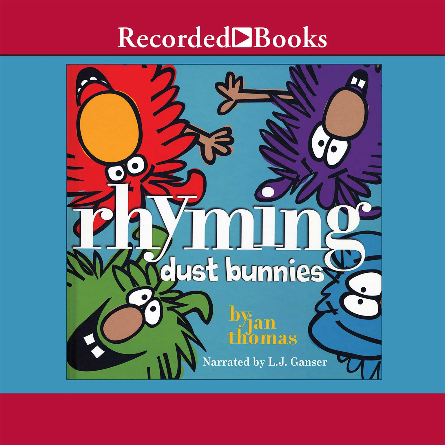 Printable Rhyming Dust Bunnies Audiobook Cover Art