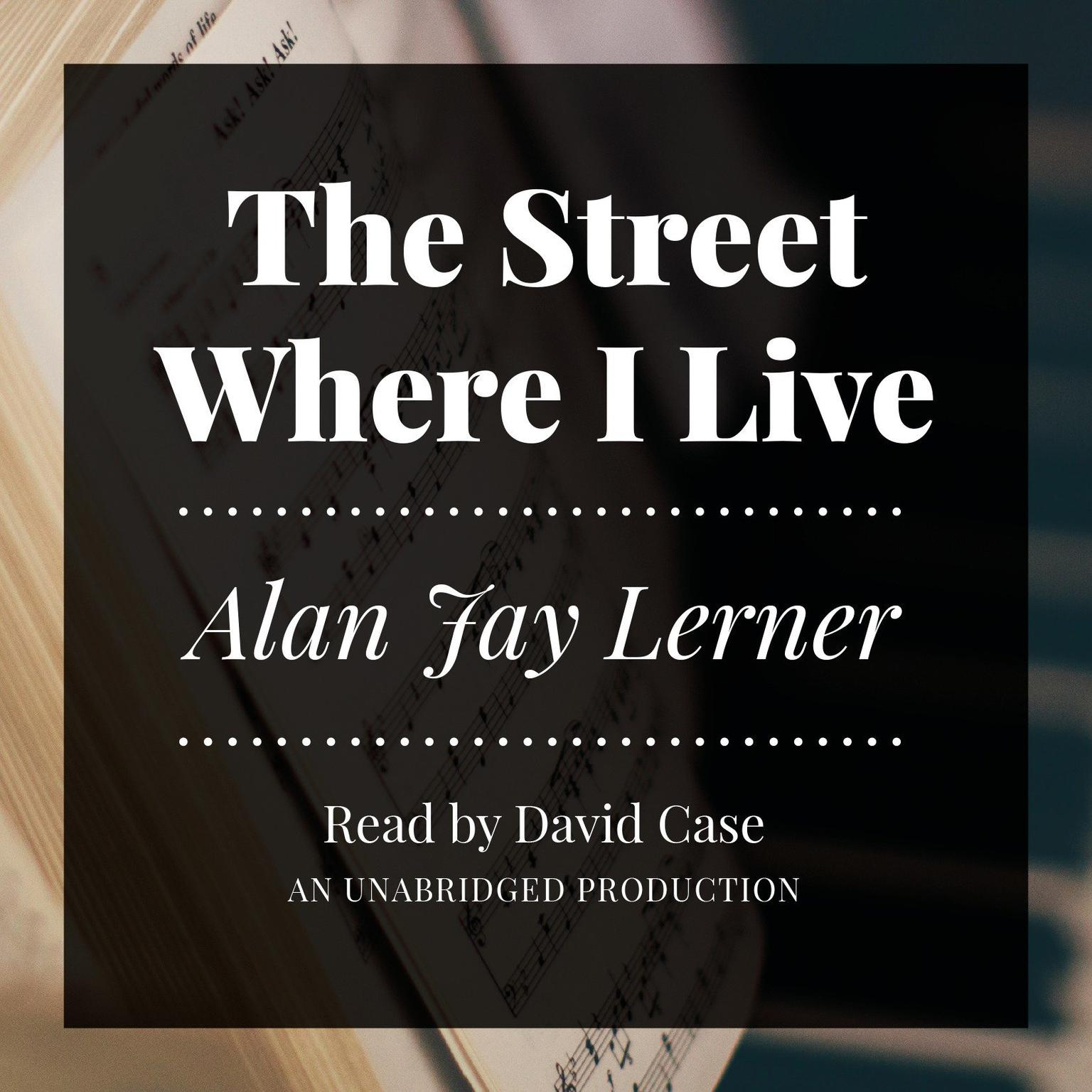 Printable The Street Where I Live Audiobook Cover Art