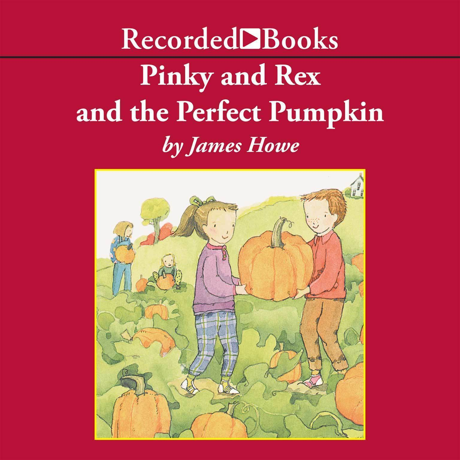 Printable Pinky and Rex and the Perfect Pumpkin Audiobook Cover Art