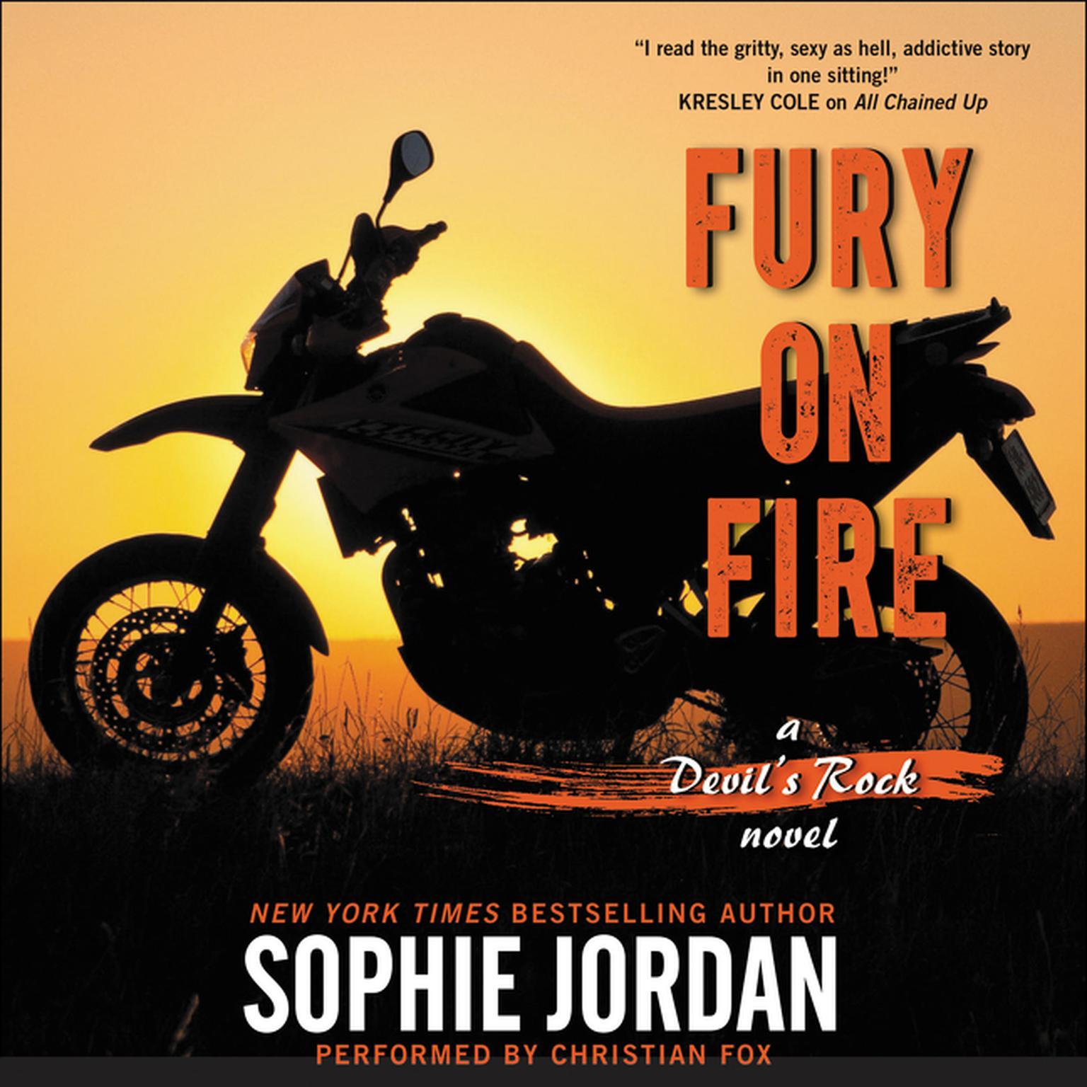 Printable Fury on Fire: A Devil's Rock Novel Audiobook Cover Art