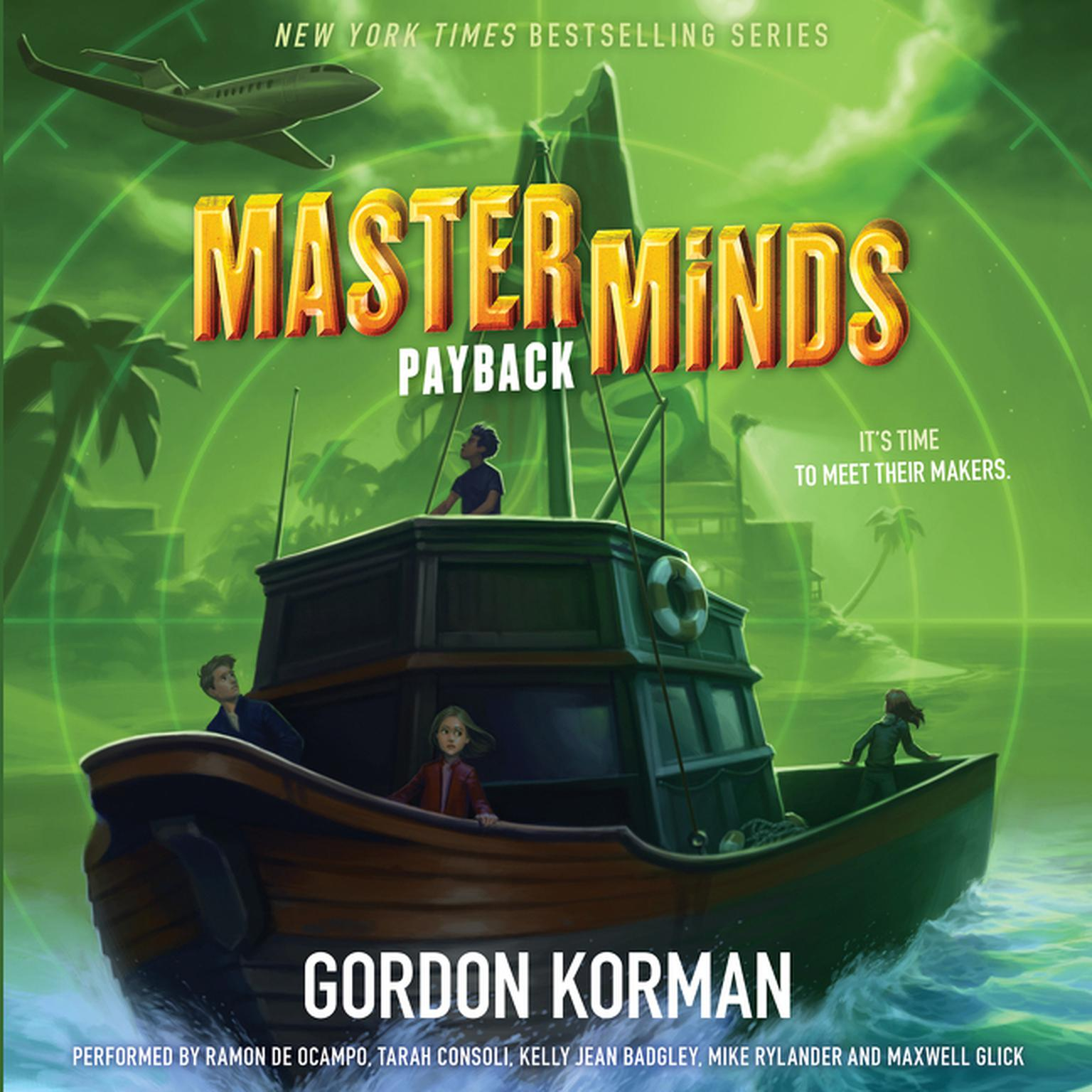 Printable Masterminds: Payback Audiobook Cover Art