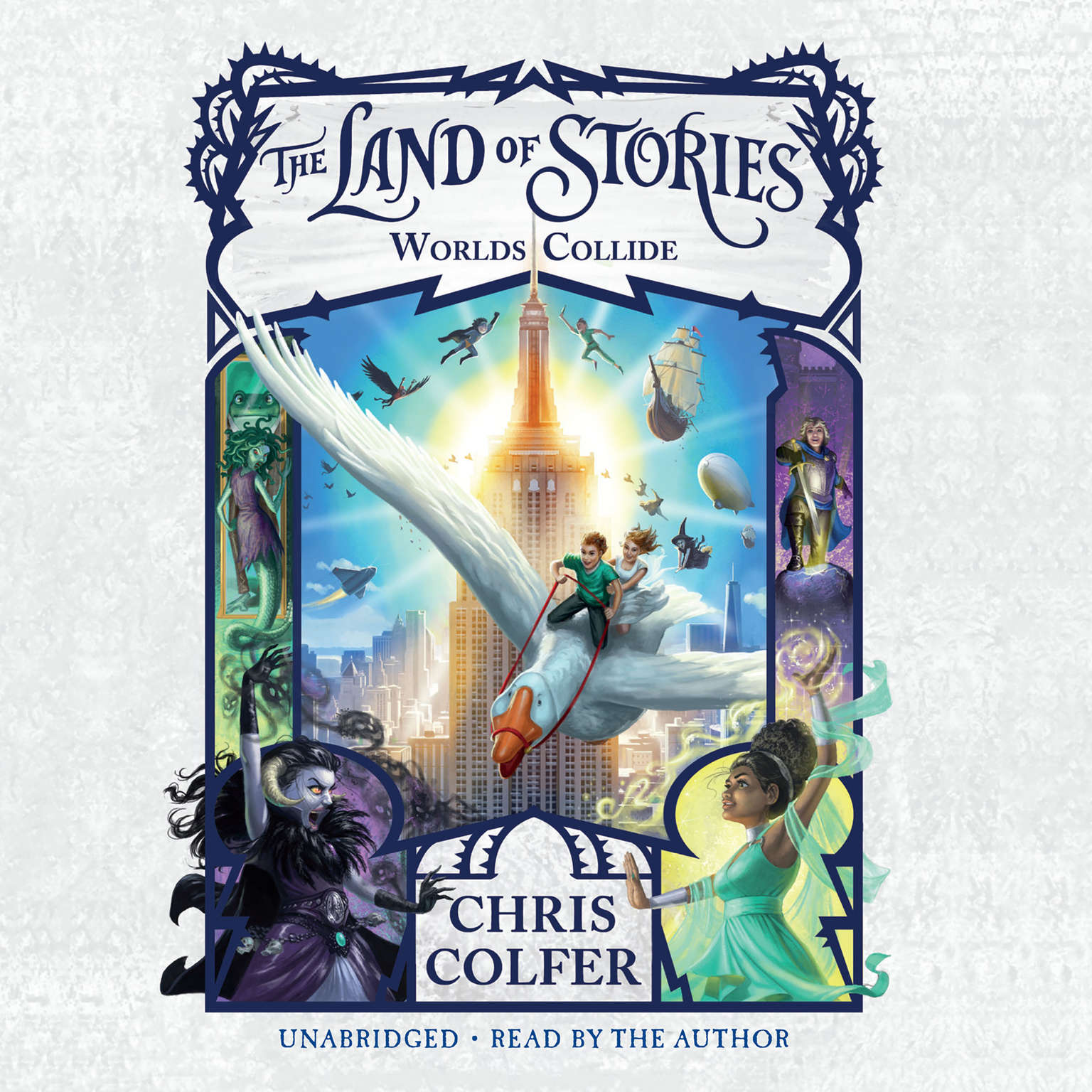 Printable The Land of Stories: Worlds Collide Audiobook Cover Art