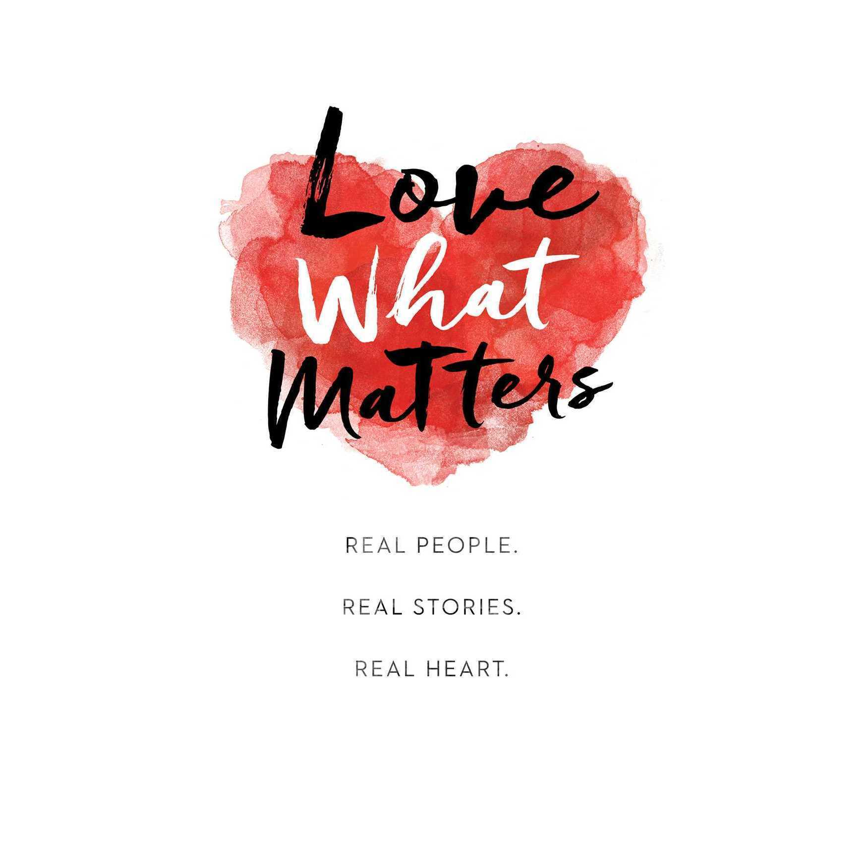 Printable Love What Matters Audiobook Cover Art