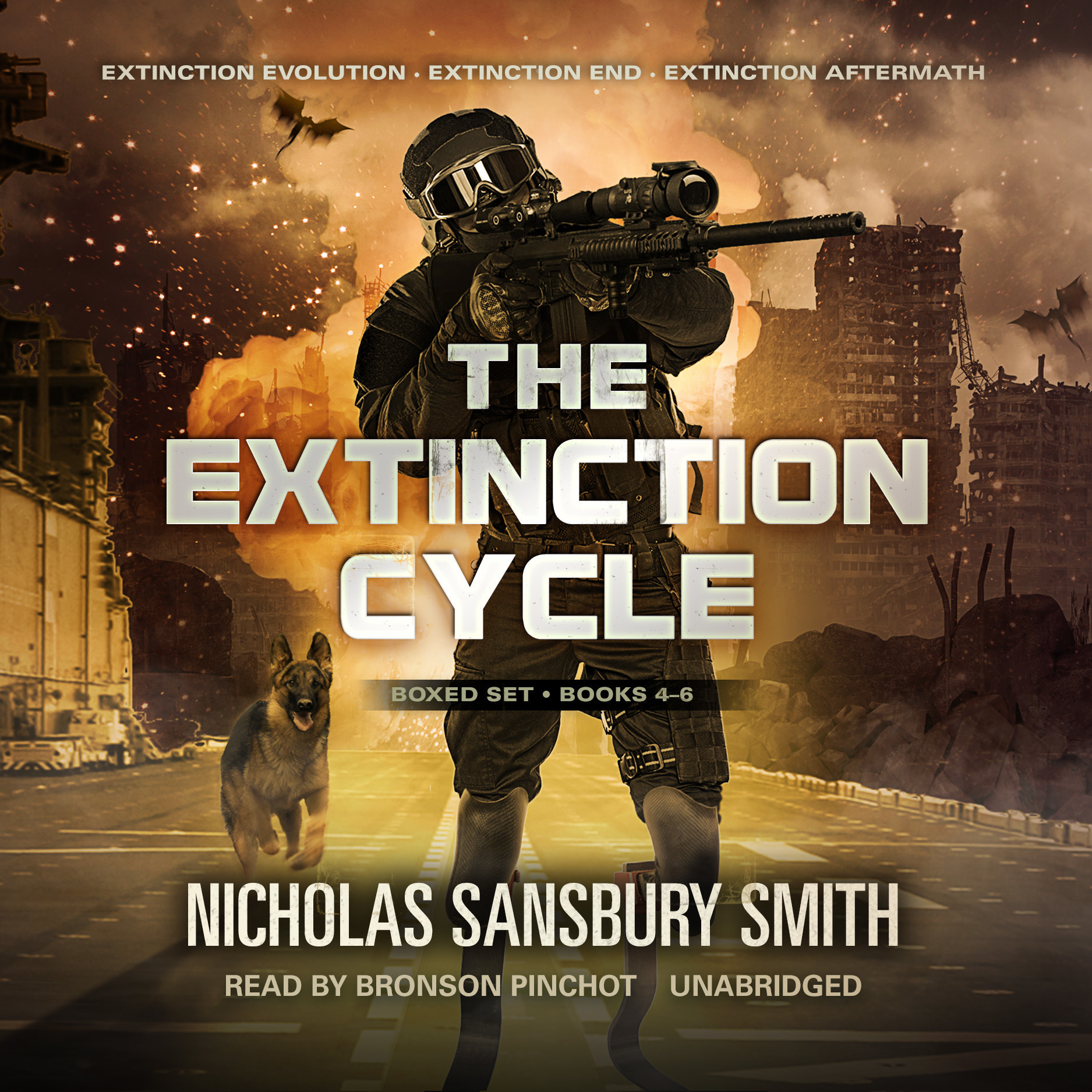 Printable The Extinction Cycle Boxed Set, Books 4–6: Extinction Evolution, Extinction End, and Extinction Aftermath Audiobook Cover Art