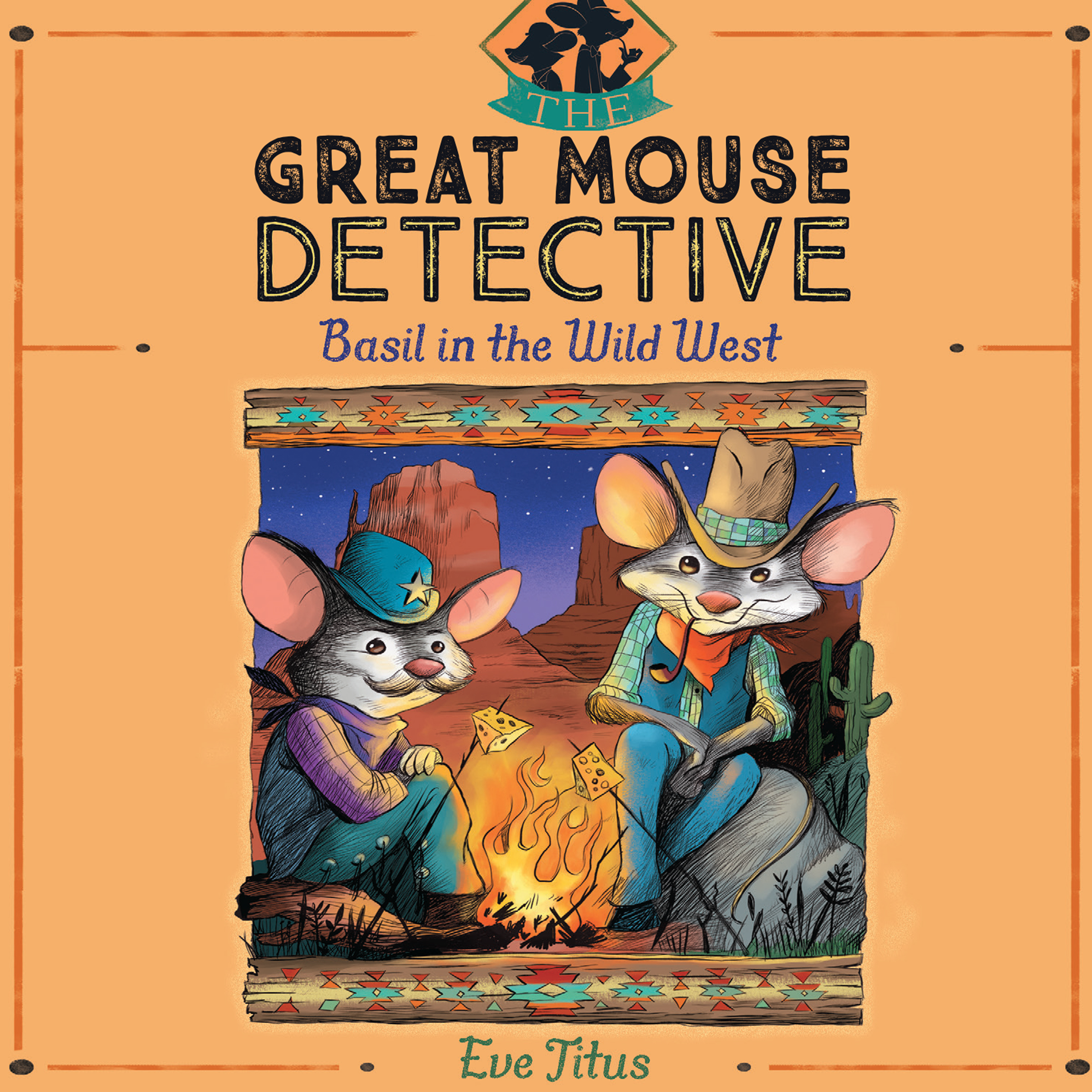 Printable Basil in the Wild West Audiobook Cover Art