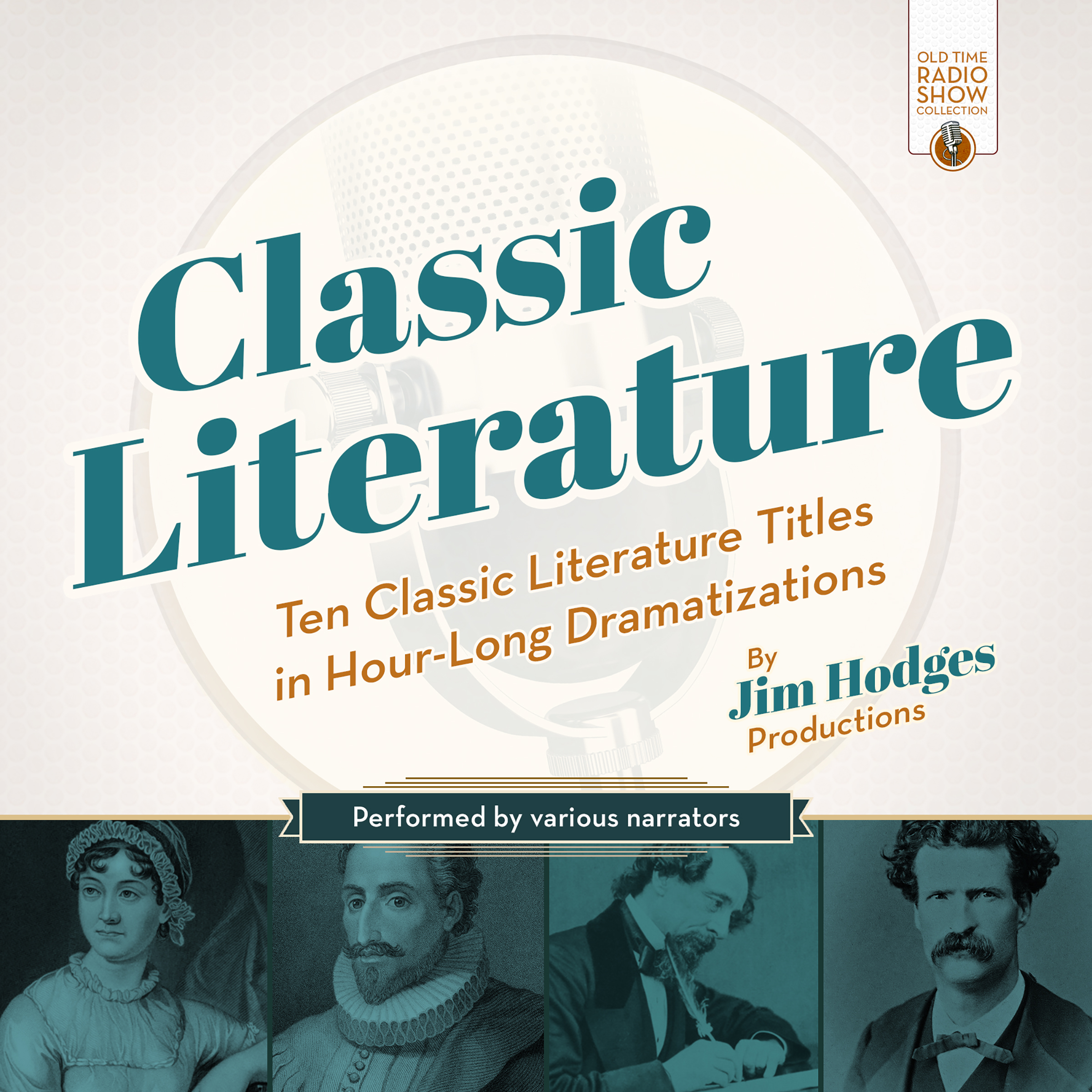 Printable Classic Literature: Ten Classic Literature Titles in Hour-Long Dramatizations Audiobook Cover Art
