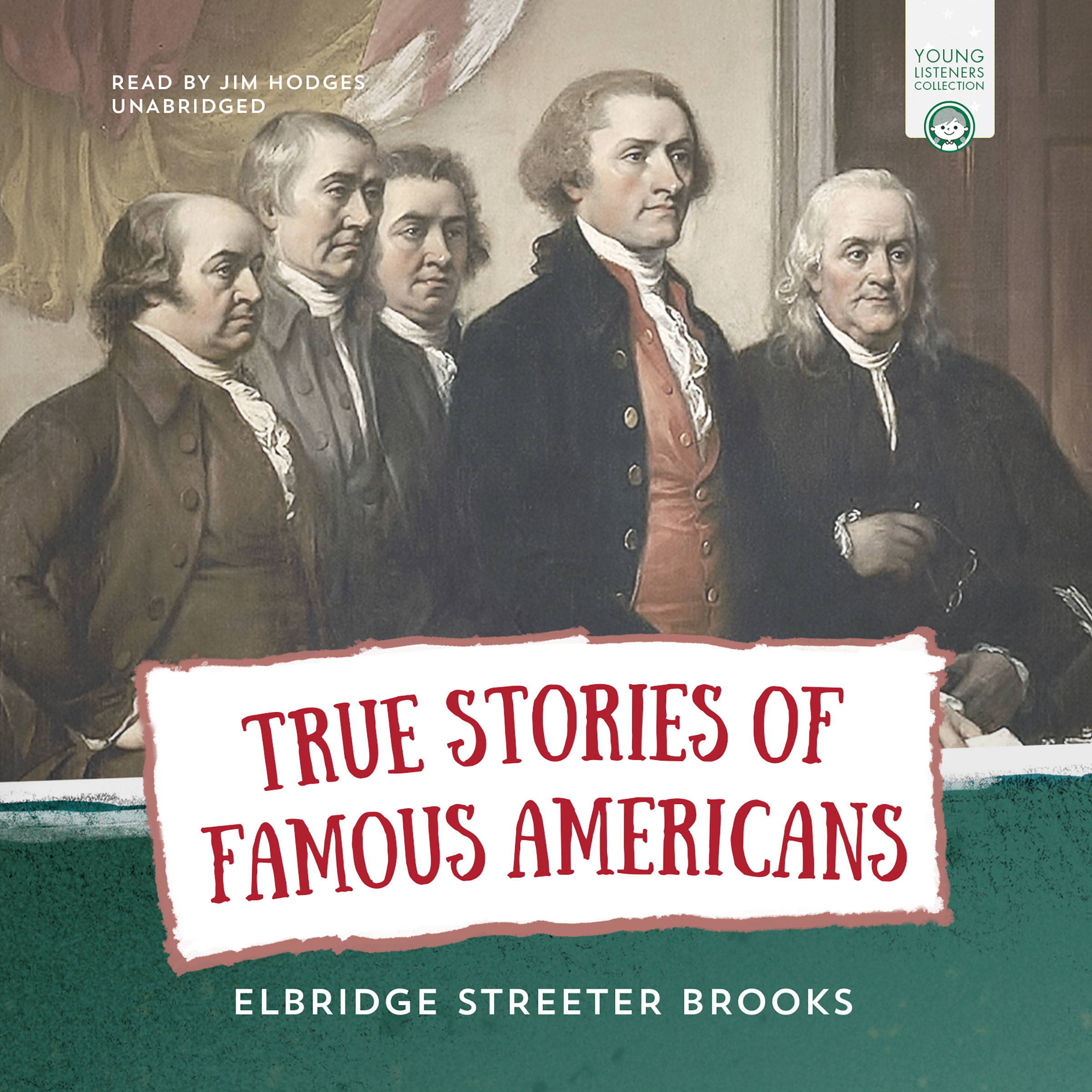 Printable True Stories of Famous Americans Audiobook Cover Art