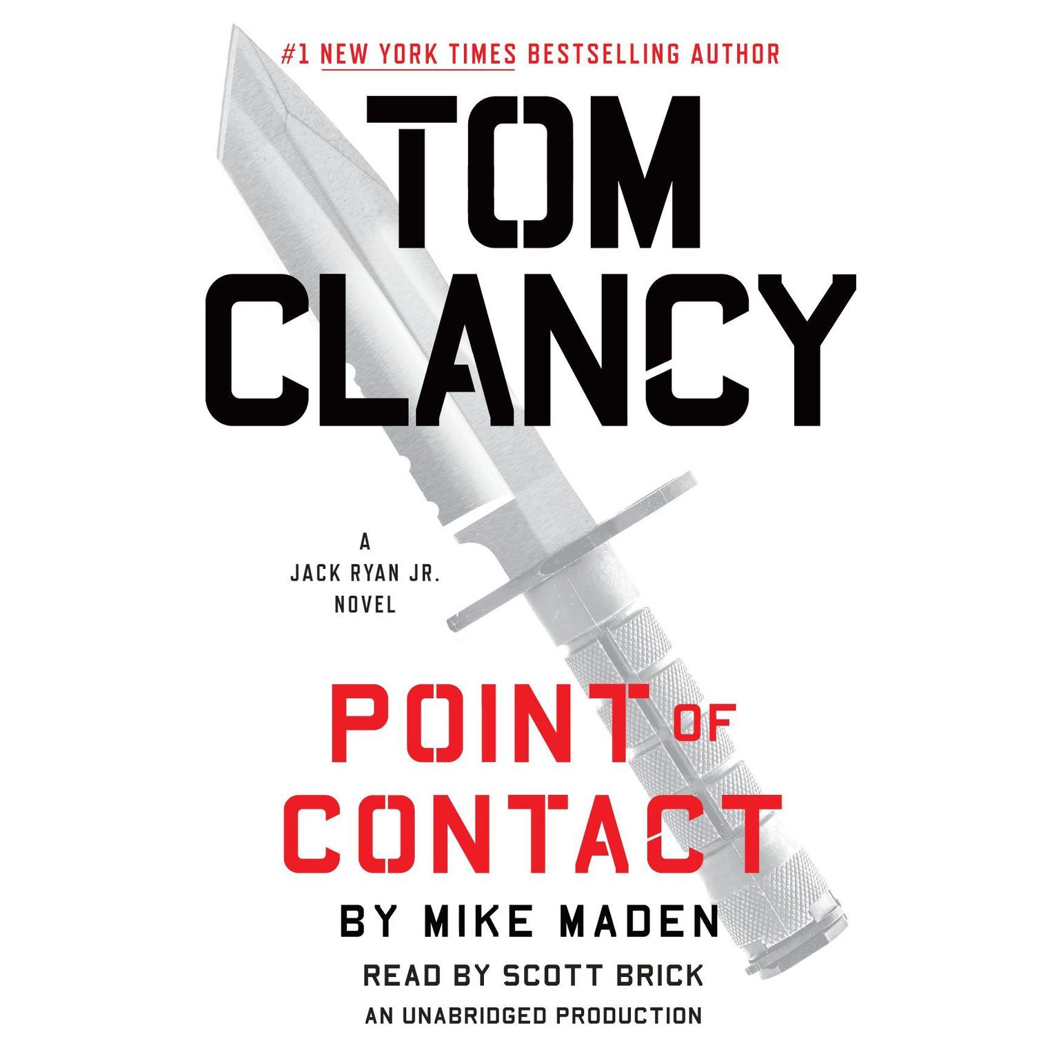 Printable Tom Clancy Point of Contact Audiobook Cover Art