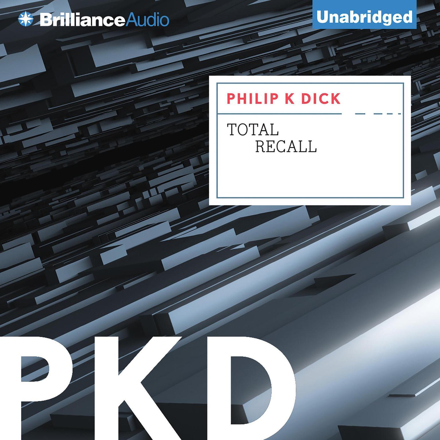 Printable Total Recall Audiobook Cover Art