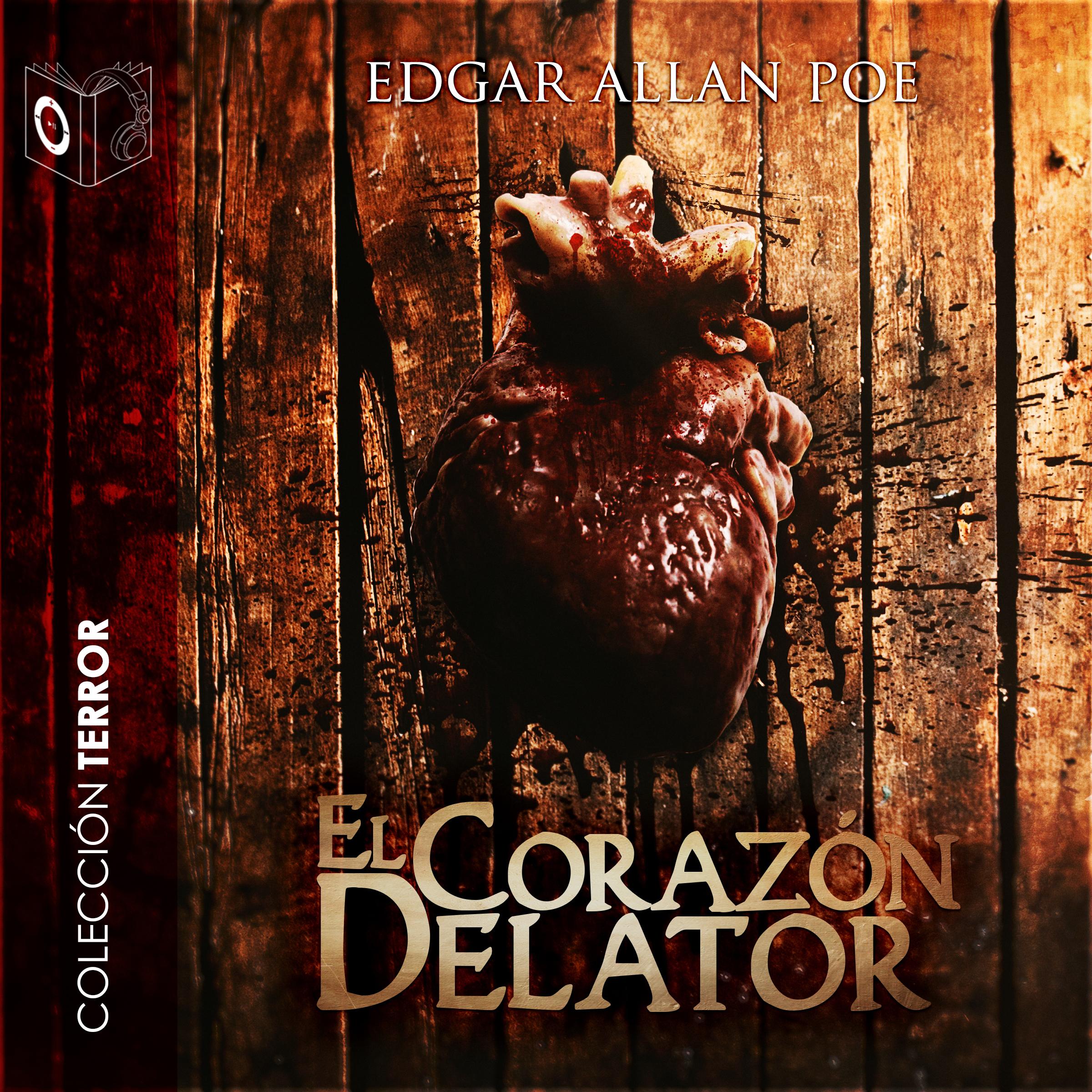 Printable El corazón delator Audiobook Cover Art