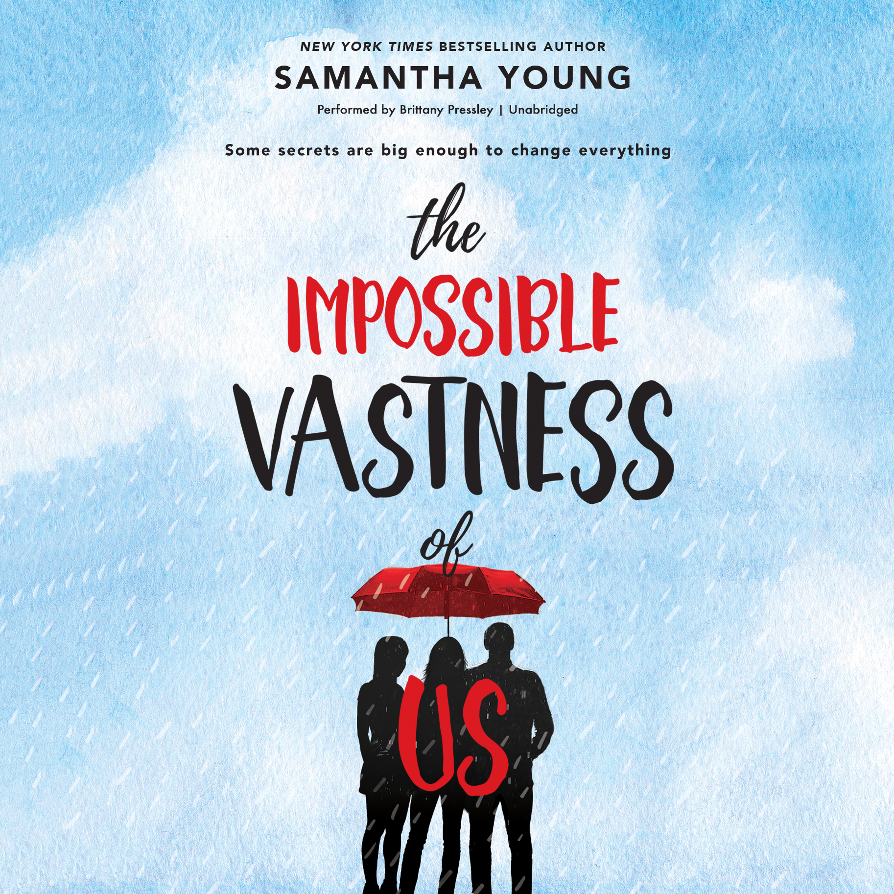 Printable The Impossible Vastness of Us Audiobook Cover Art