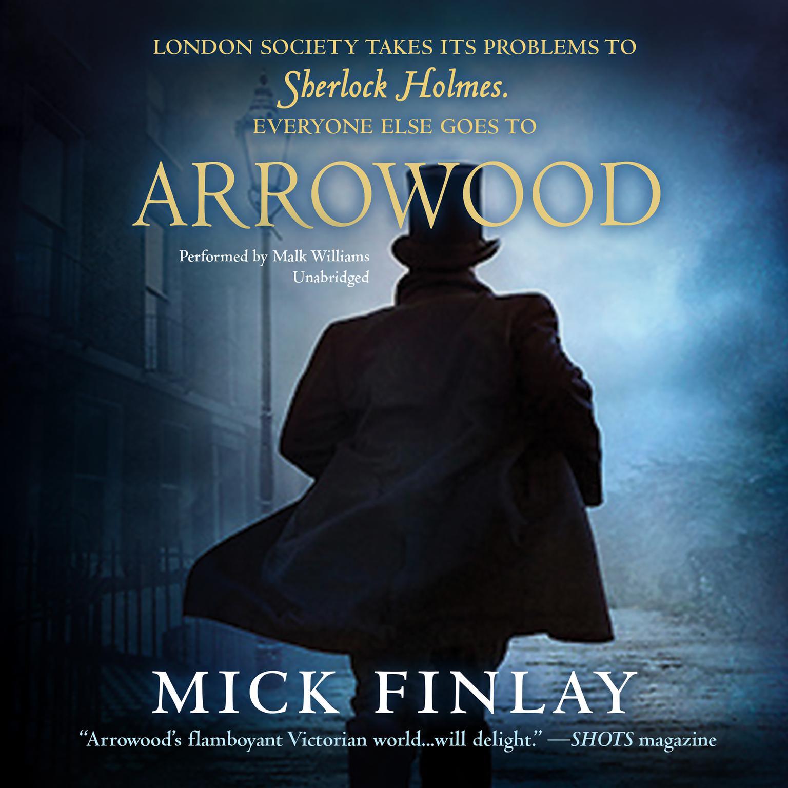 Printable Arrowood: Sherlock Holmes Has Met His Match Audiobook Cover Art
