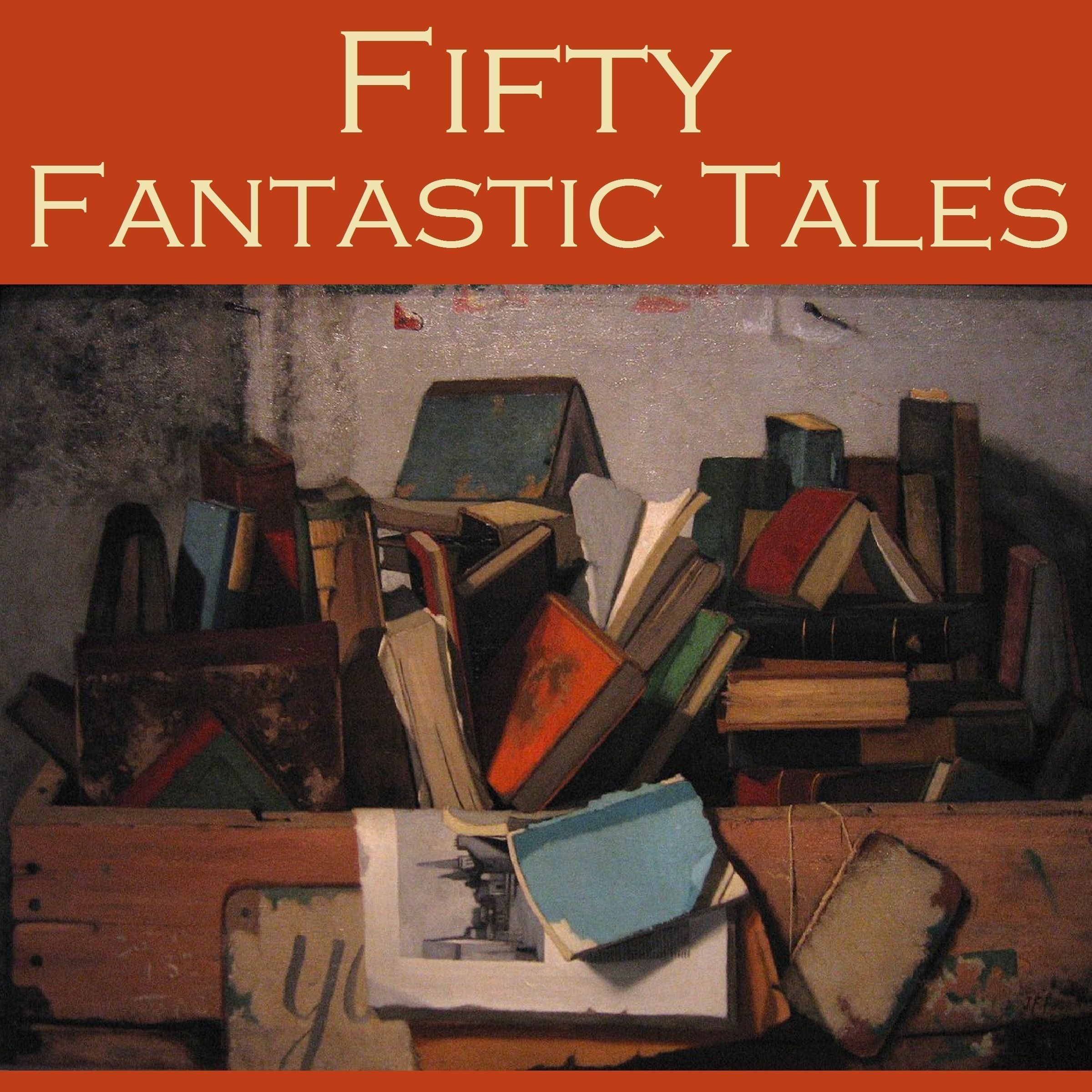 Printable Fifty Fantastic Tales Audiobook Cover Art