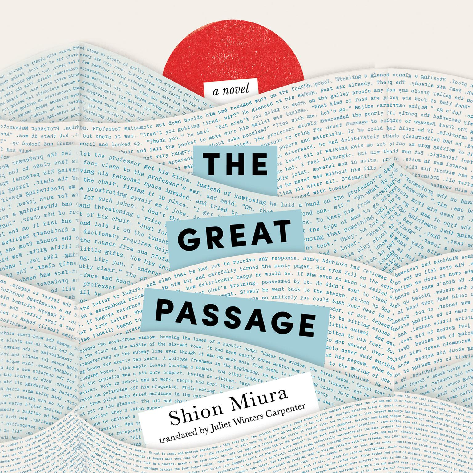 Printable The Great Passage Audiobook Cover Art