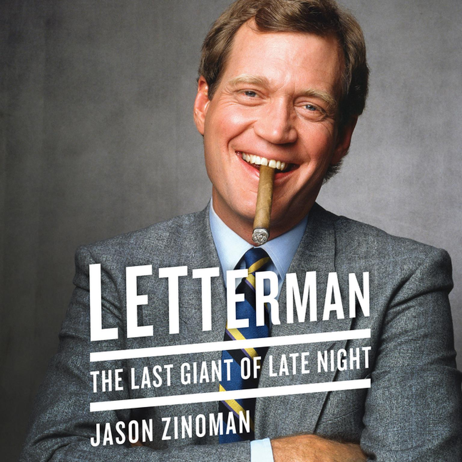 Printable Letterman: The Last Giant of Late Night Audiobook Cover Art
