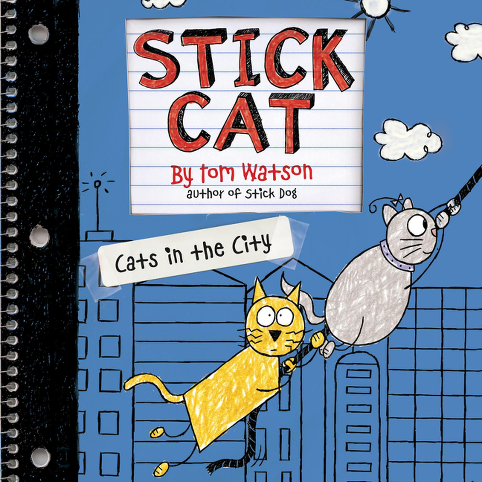 Printable Stick Cat: Cats in the City Audiobook Cover Art