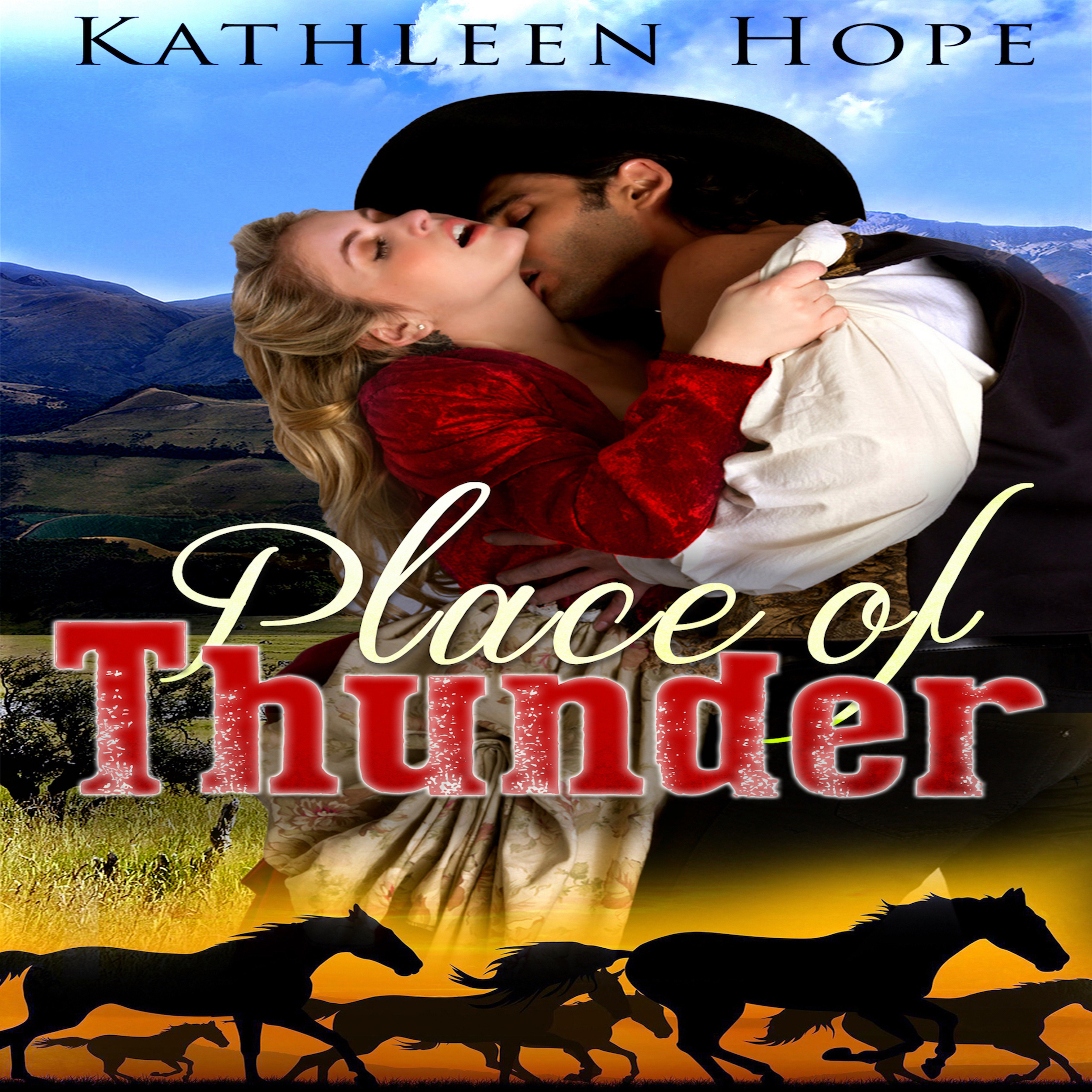 Printable Historical Romance: Place of Thunder Audiobook Cover Art