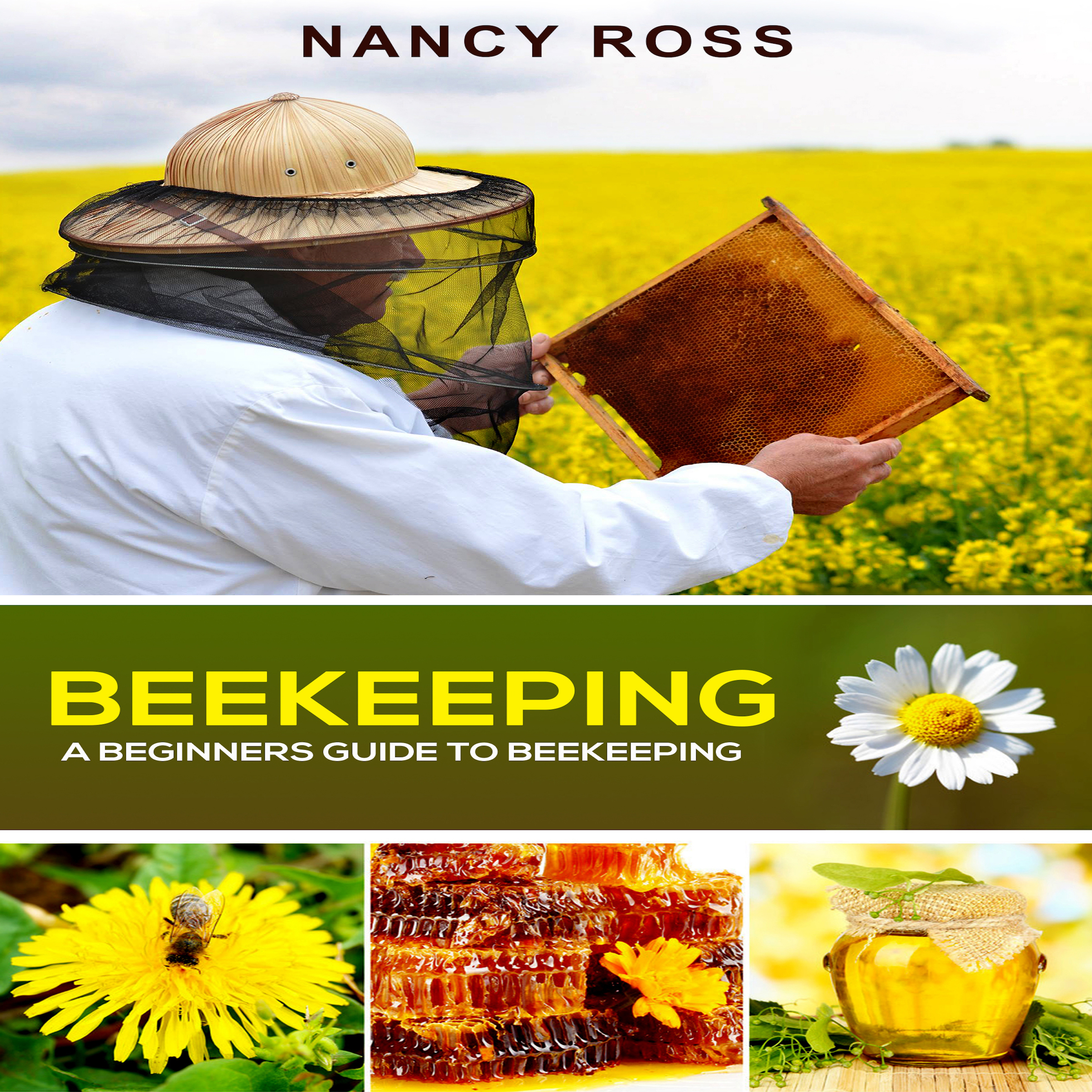 Printable Beekeeping: A Beginners Guide To Beekeeping Audiobook Cover Art