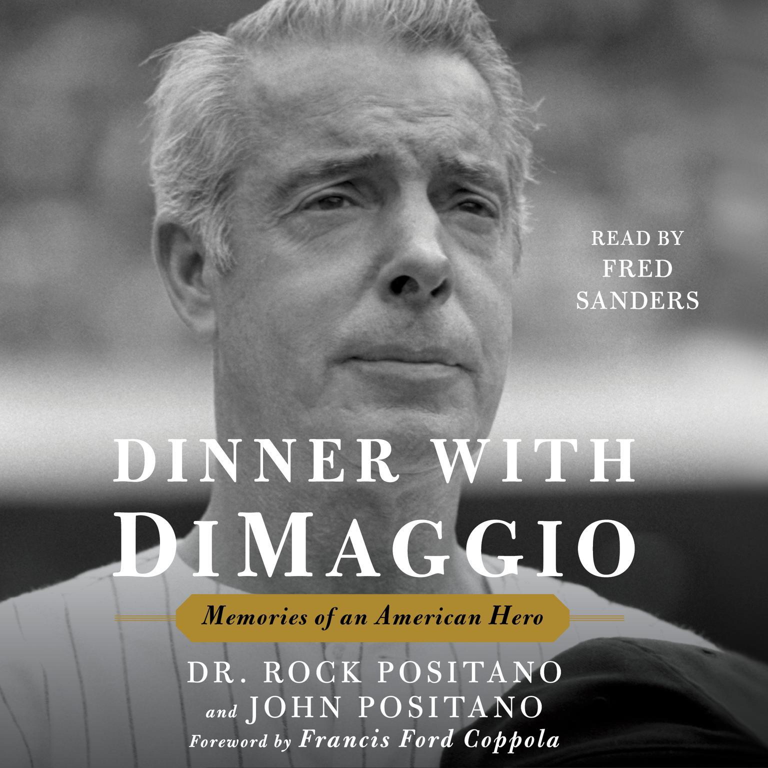 Printable Dinner with DiMaggio: Memories of An American Hero Audiobook Cover Art