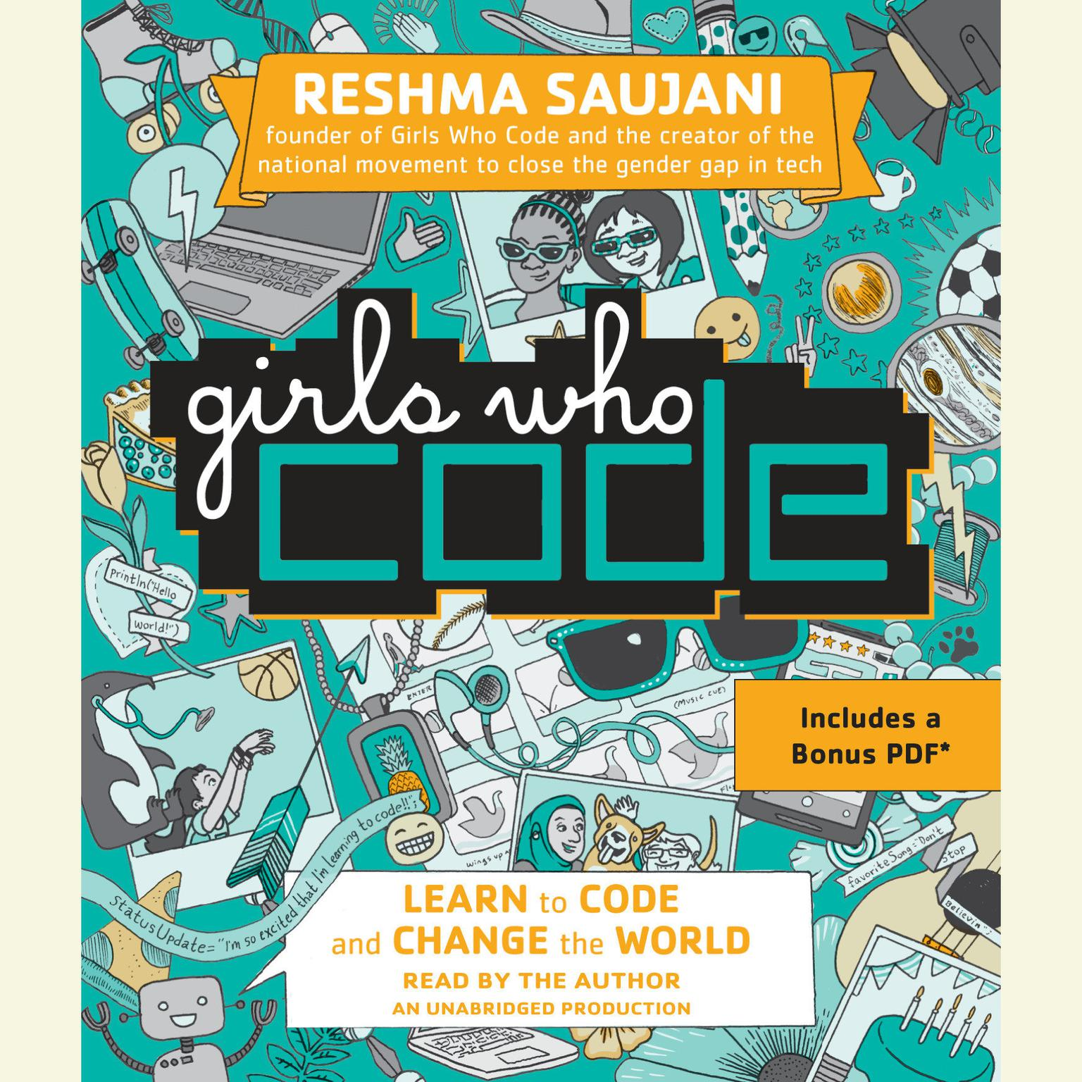 Printable Girls Who Code: Learn to Code and Change the World Audiobook Cover Art