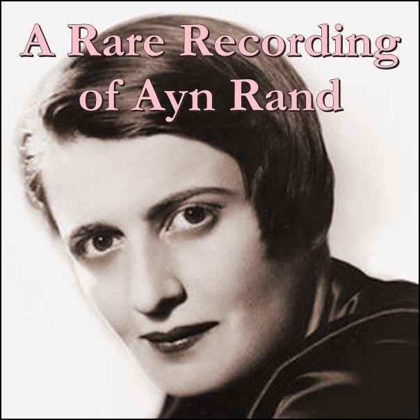 Printable A Rare Recording of Ayn Rand Audiobook Cover Art