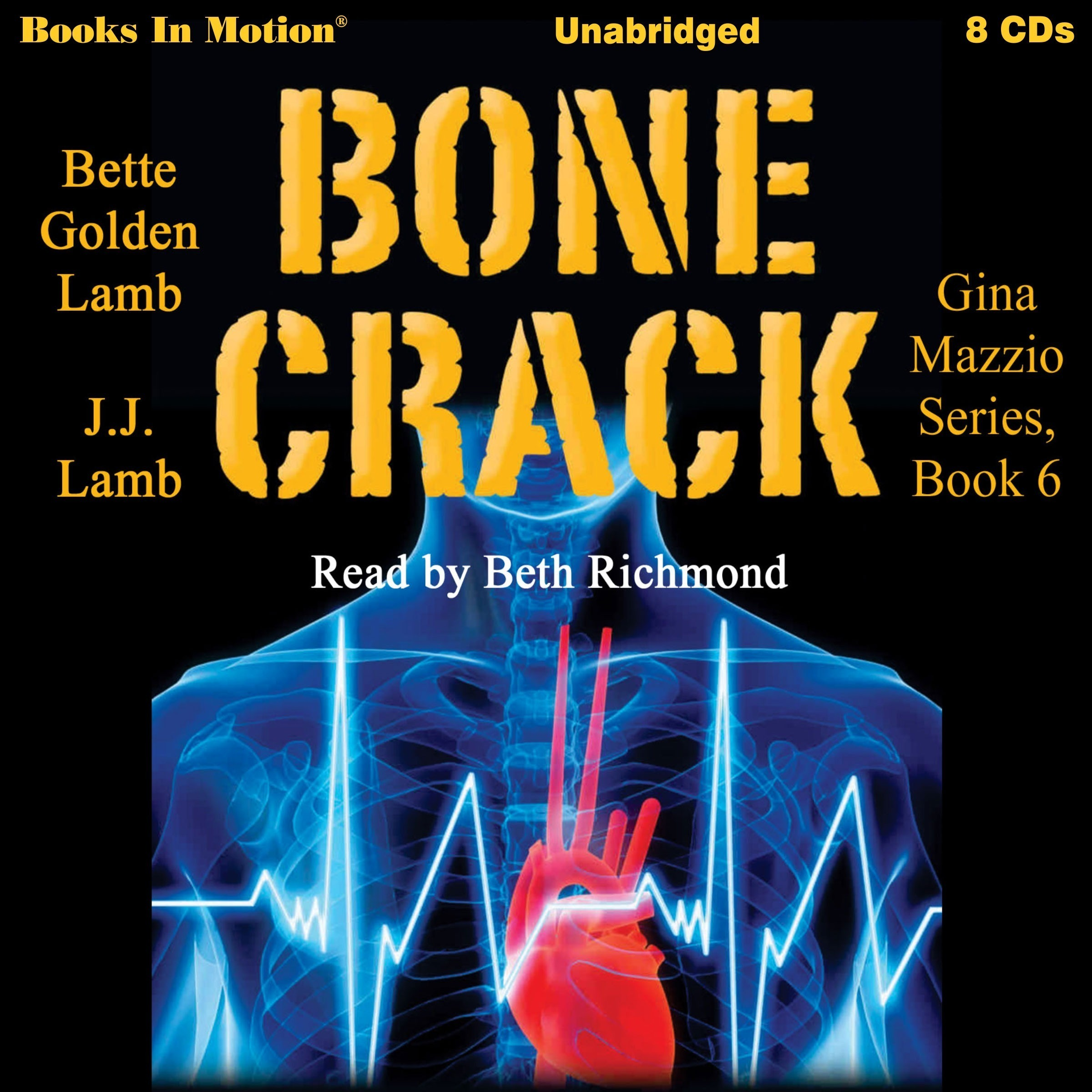 Printable Bone Crack: Gina Mazzio, book 6 Audiobook Cover Art