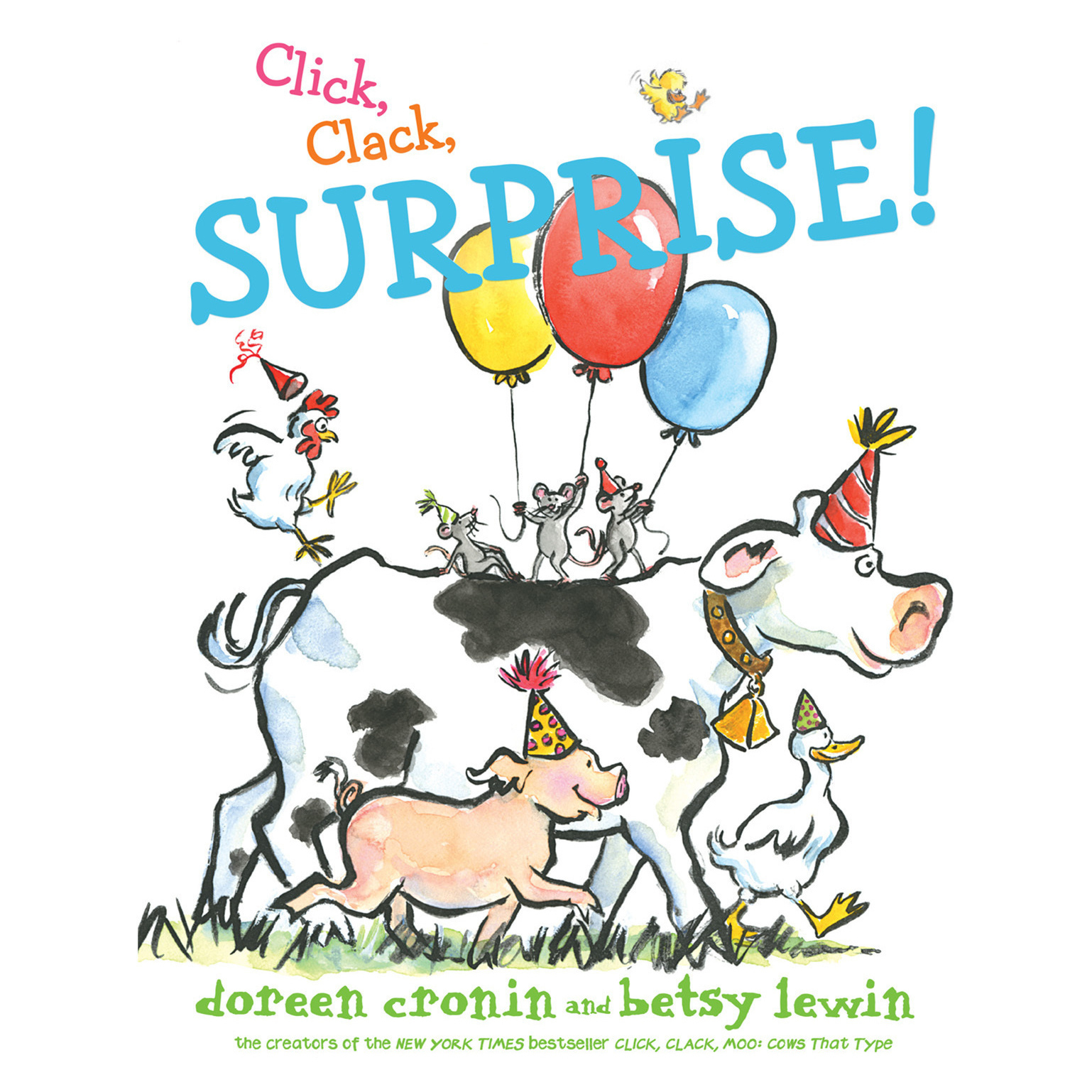 Printable Click, Clack, Surprise! Audiobook Cover Art
