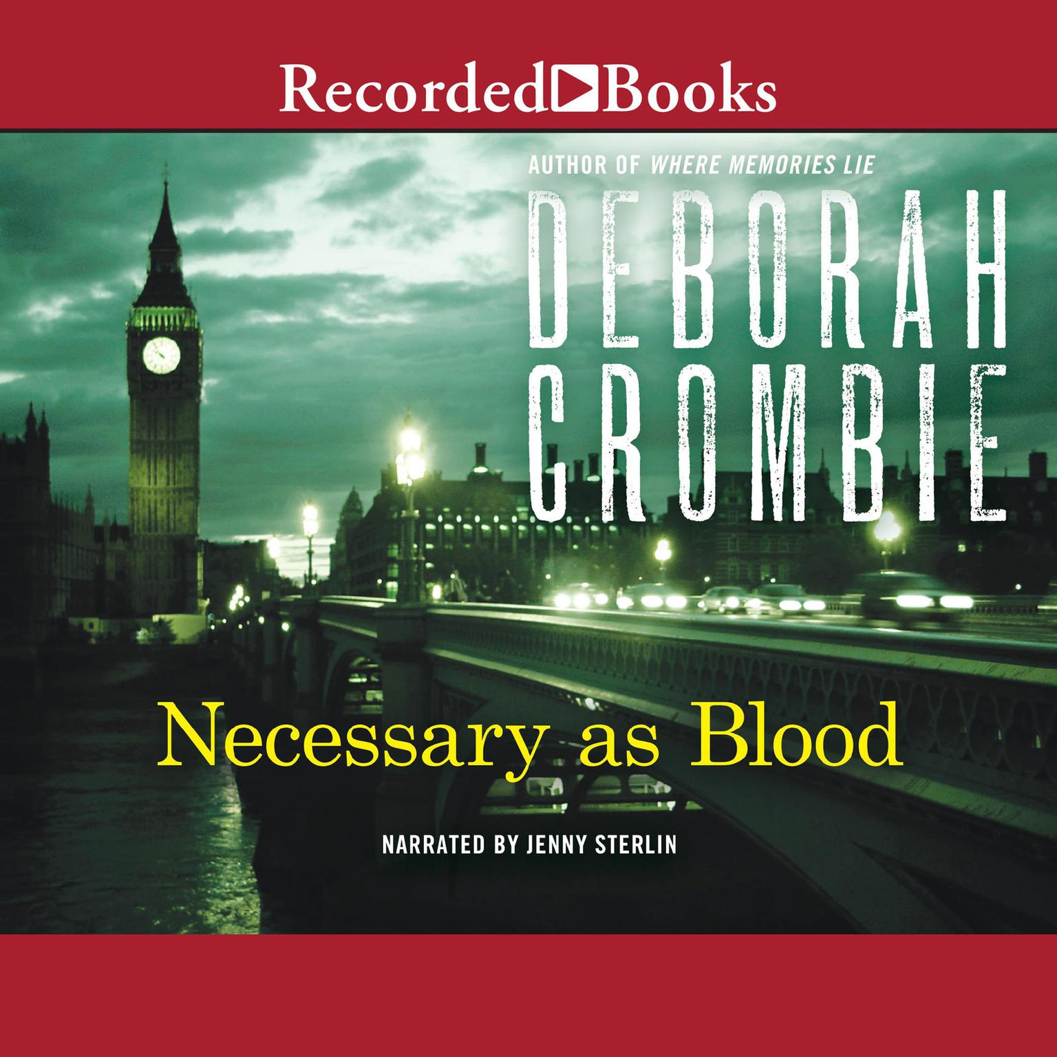 Printable Necessary as Blood Audiobook Cover Art