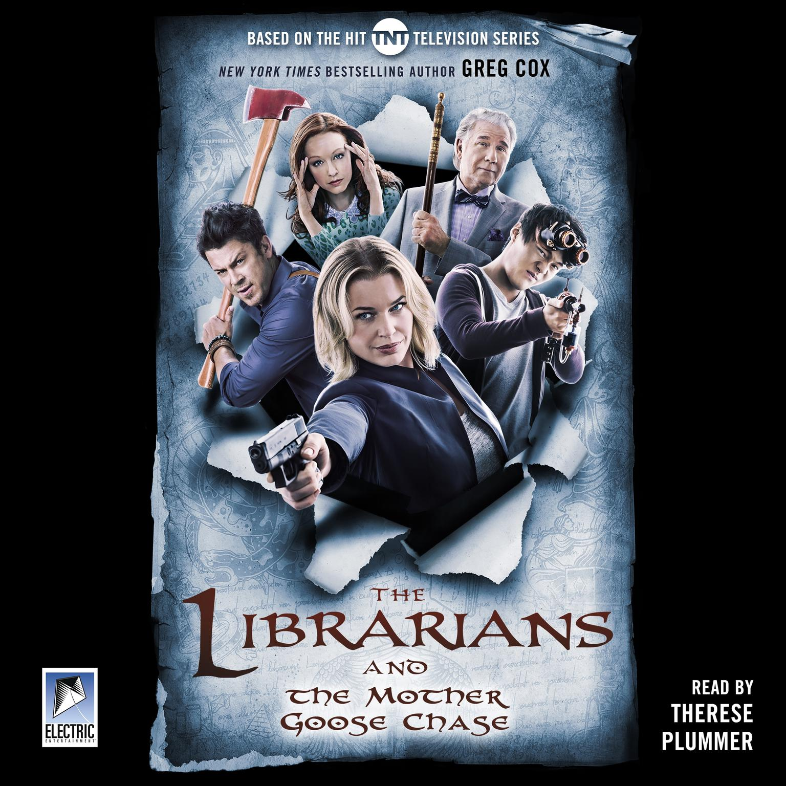 Printable The Librarians and the Mother Goose Chase Audiobook Cover Art